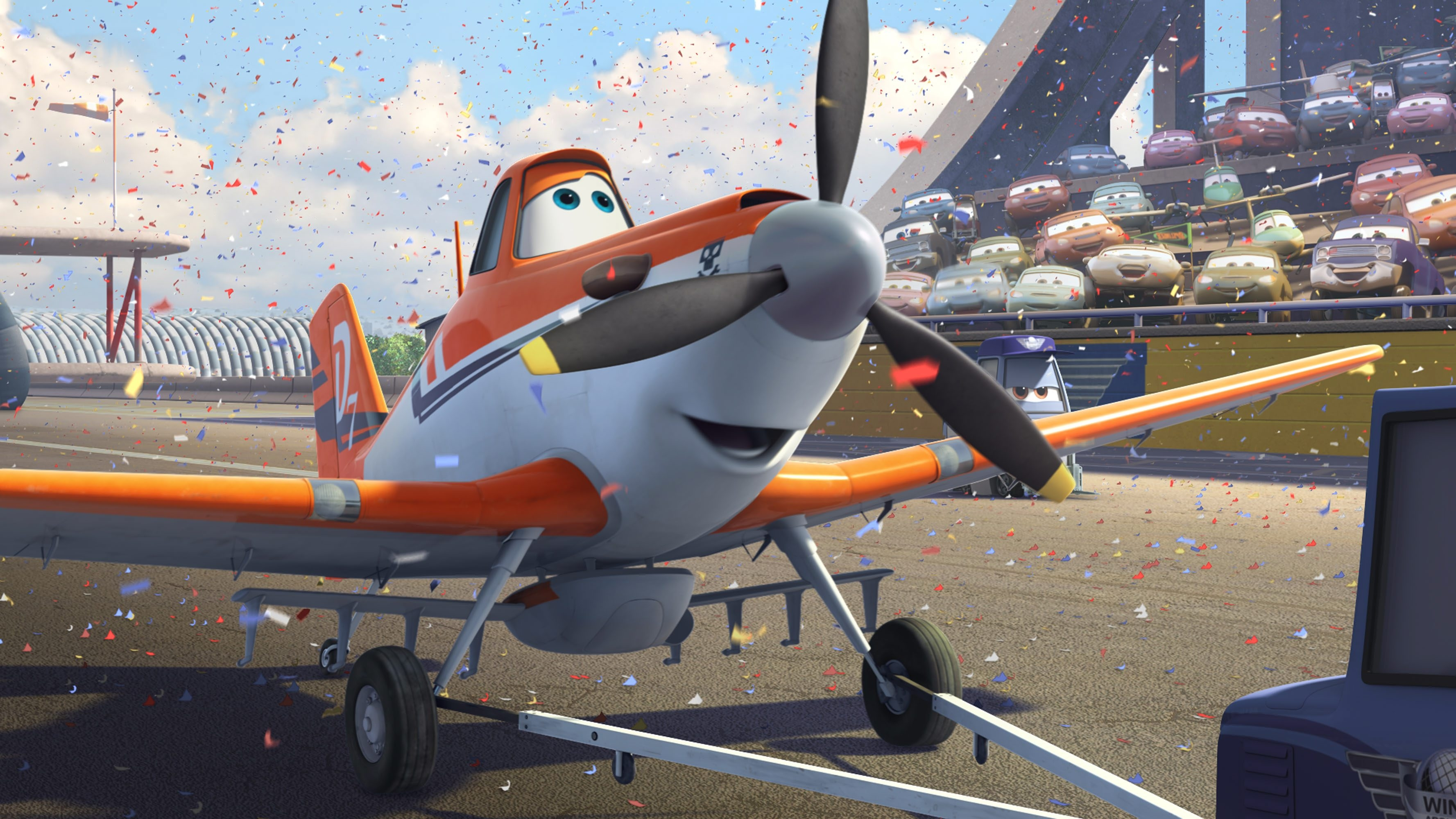 """A spunky little cropduster is the underdog hero of """"Planes."""""""