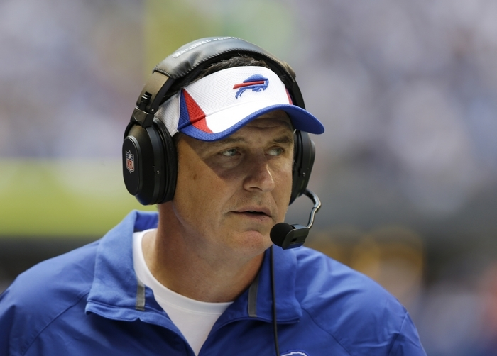 Doug Marrone coaches his first regular season NFL game today when the Bills host long-time nemesis New England. (Associated Press)