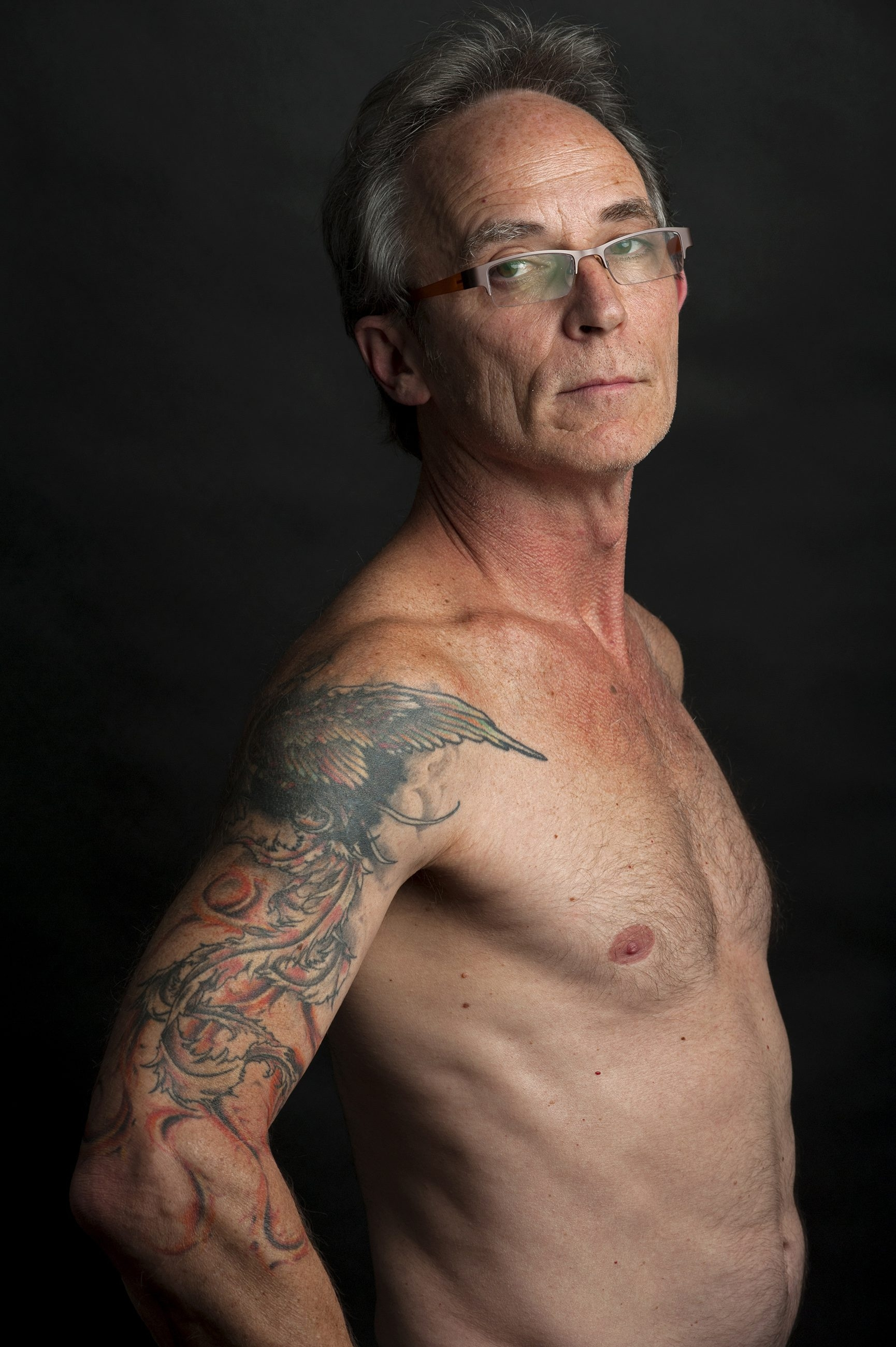 Baltimore resident Dan Whitson, 55, started getting tattoos at the age of 46.