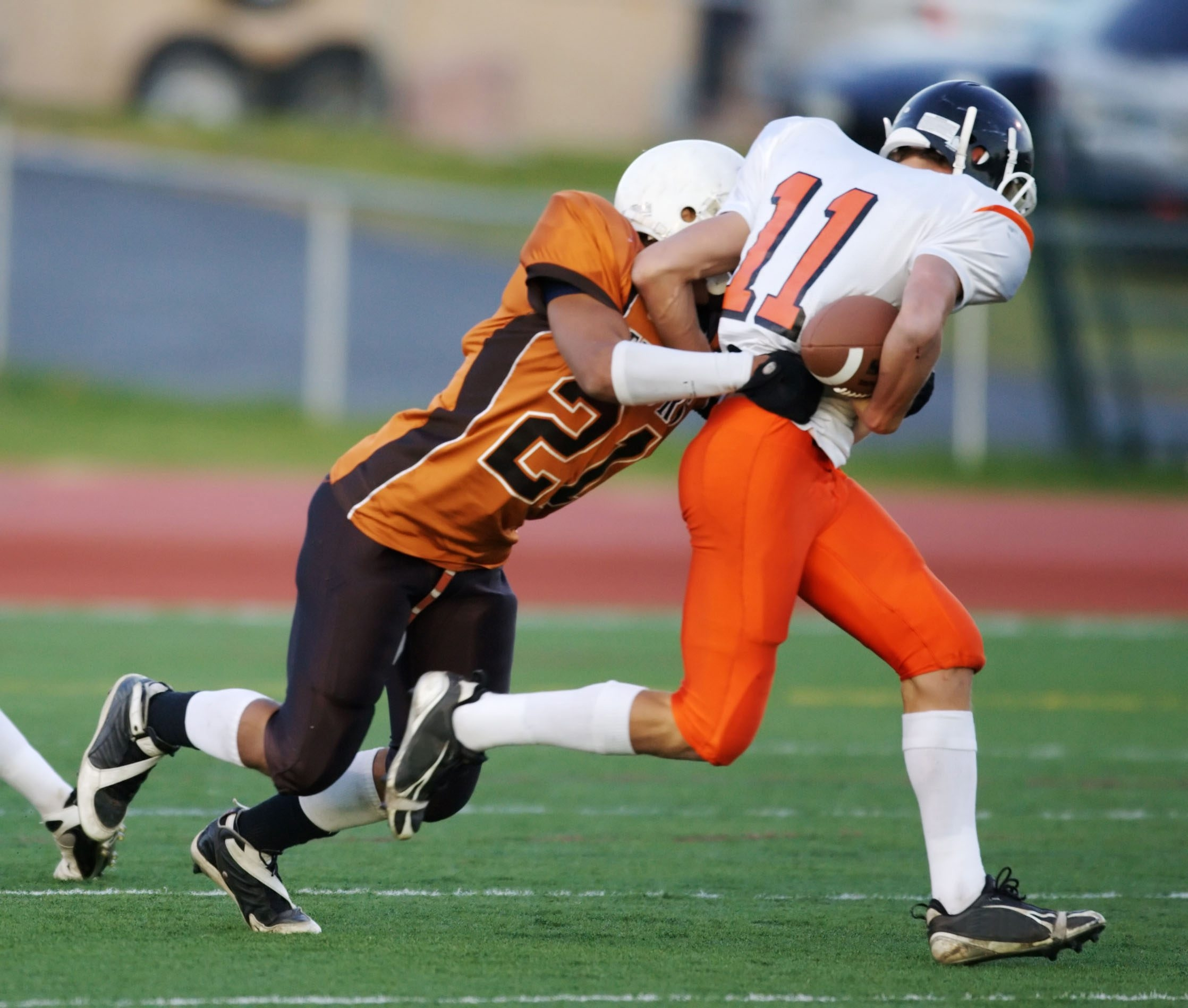 Concussions are most common in football, rugby, hockey, soccer and basketball.
