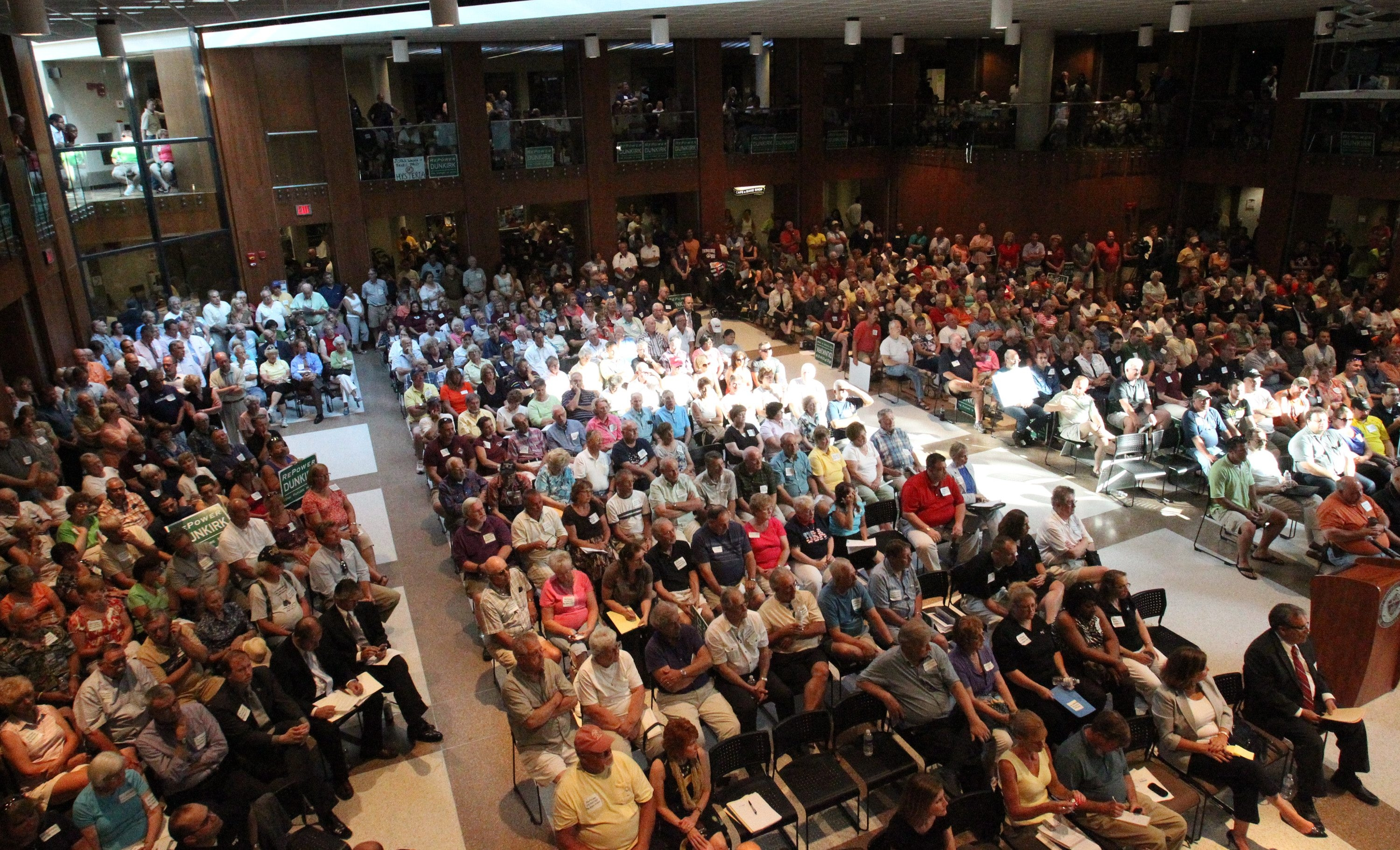 Both sides of the debate over repowering the Dunkirk Power Plant voiced their opinions at a public hearing at Fredonia State College in July.