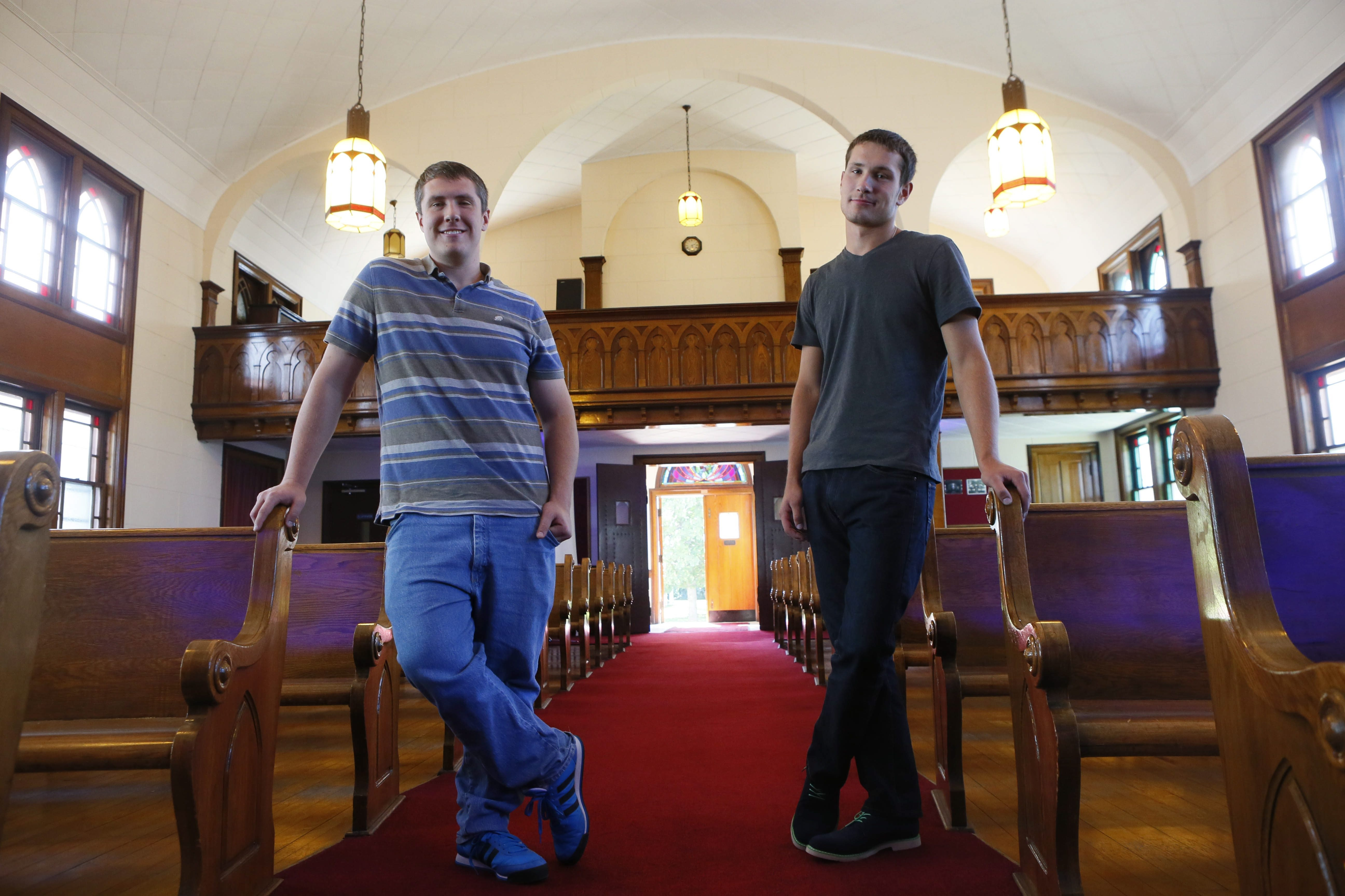 Pastor Matthew Richbart, left, and his brother, Associate Pastor Mike Richbart, are launching iHope Community Church in North Tonawanda at a special service scheduled for 11 a.m. today.