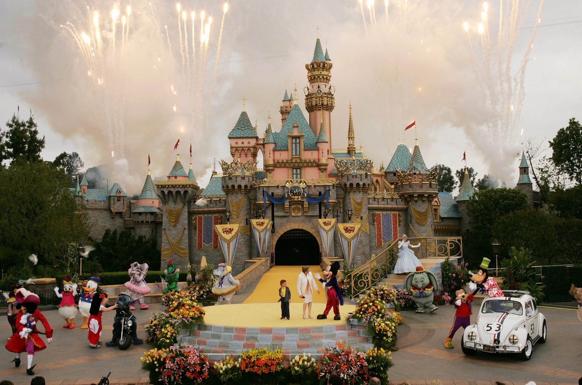 """It won't take fans too long to figure out that Anaheim isn't only home to the Ducks, but also to Disneyland, the """"Happiest Place on Earth."""""""
