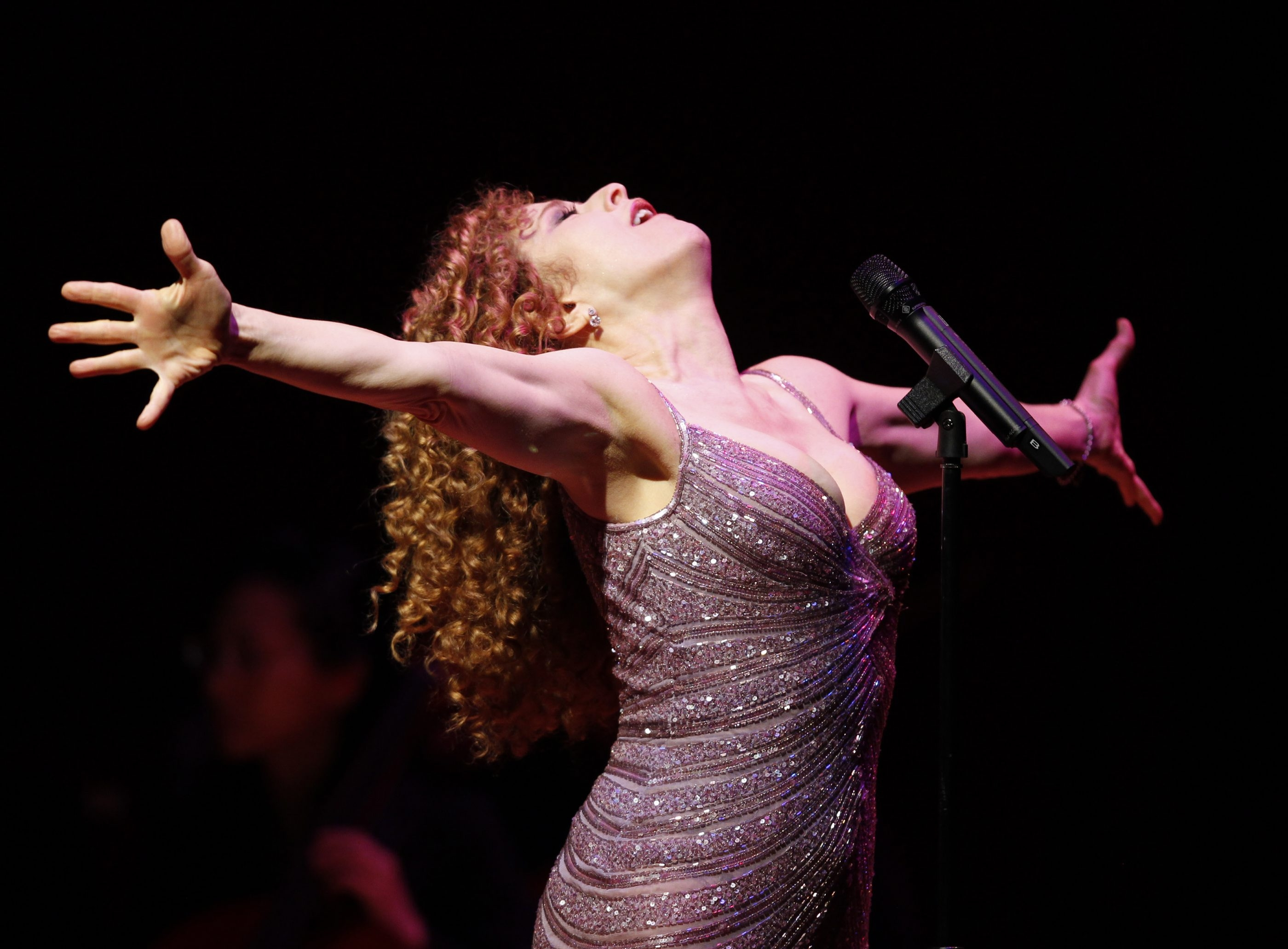 Bernadette Peters performs with the Buffalo Philharmonic Orchestra on Saturday evening in Kleinhans Music Hall. She last performed with the BPO in 2008.