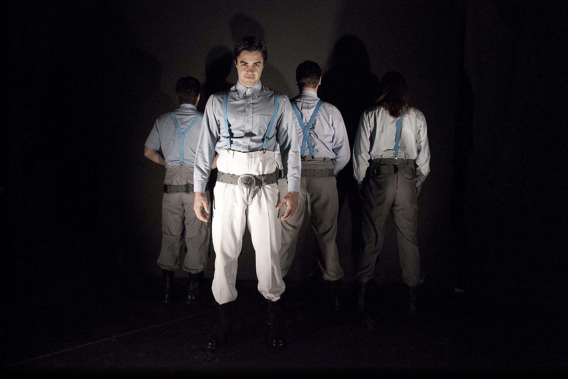 "Alan Trinca plays Alex in Torn Space Theatre's production of ""A Clockwork Orange."""