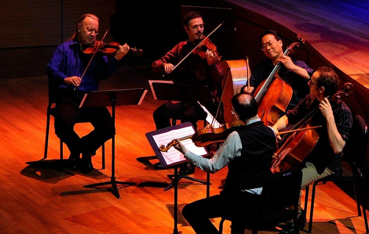 Yo-Yo Ma with the Silk Road Ensemble.