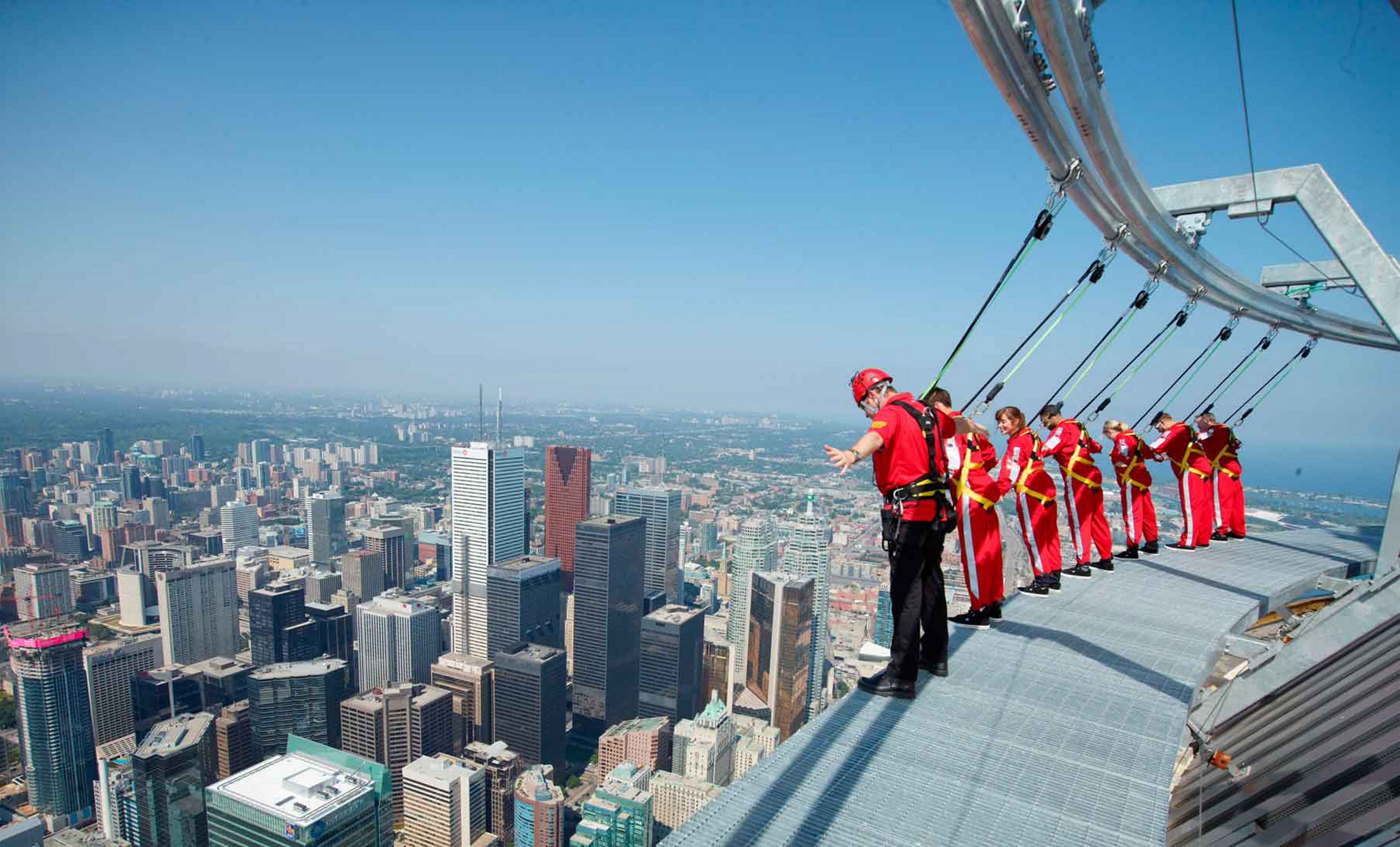 The EdgeWalk at the CN Tower in Toronto provides a unique – and exhilarating – view of the city.