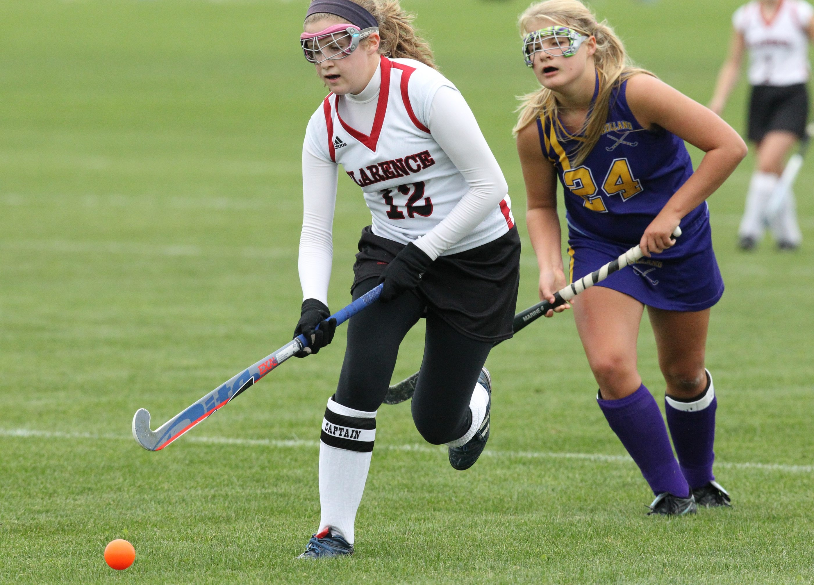Tess Luzi was one of three scorers for Clarence in a 3-0 win over Holland in field hockey.