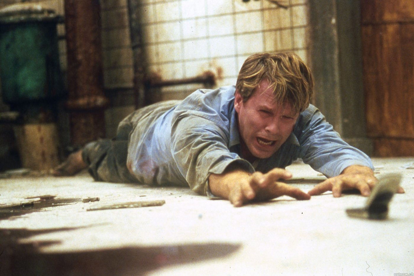 "Cary Elwes in a scene from ""Saw,"" a horror movie so popular it spawned several sequels."