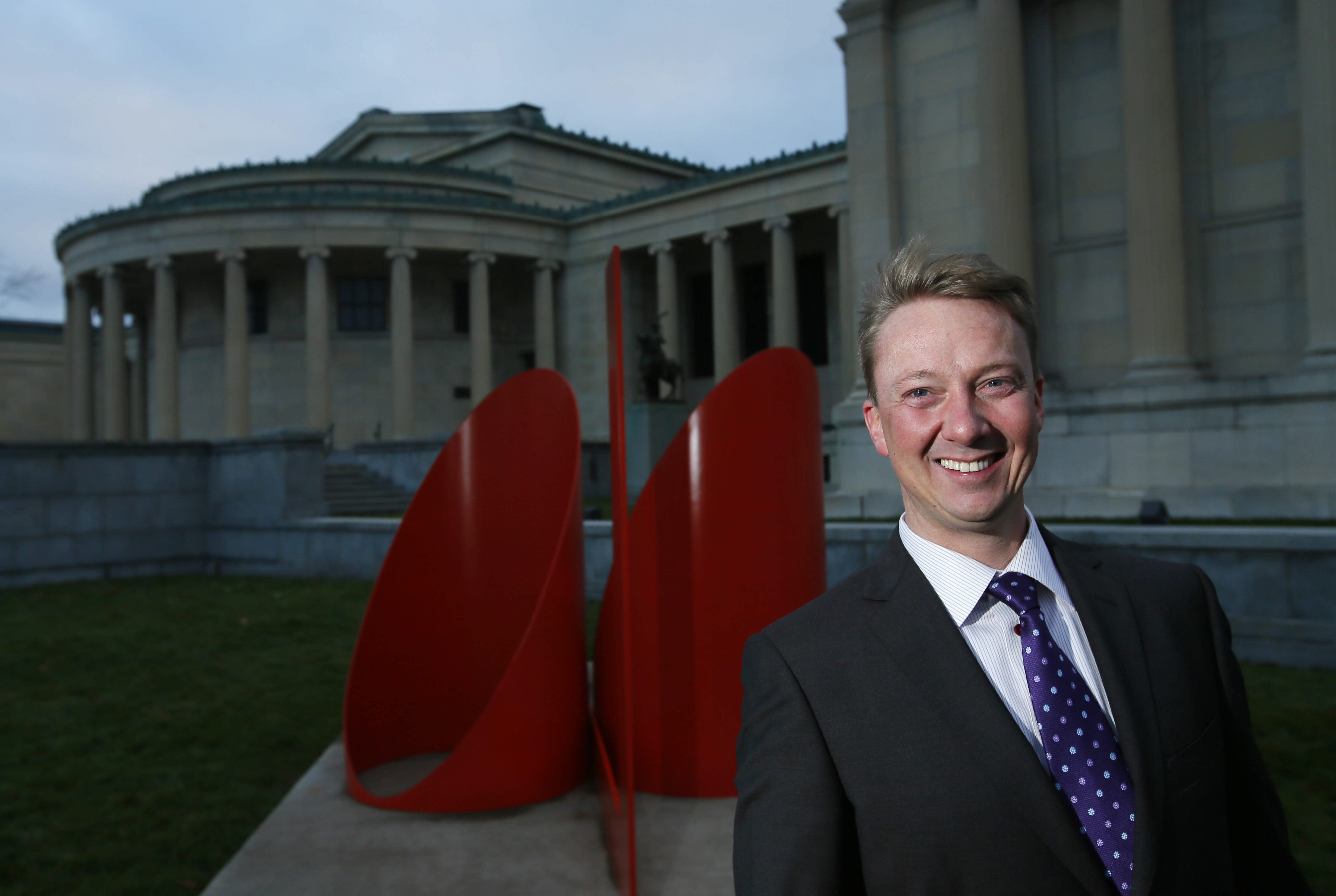 Albright-Knox Art Gallery Director Janne Gallen-Kallela-Sirén has put behind him the controversy involving a proposed museum in Helsinki.