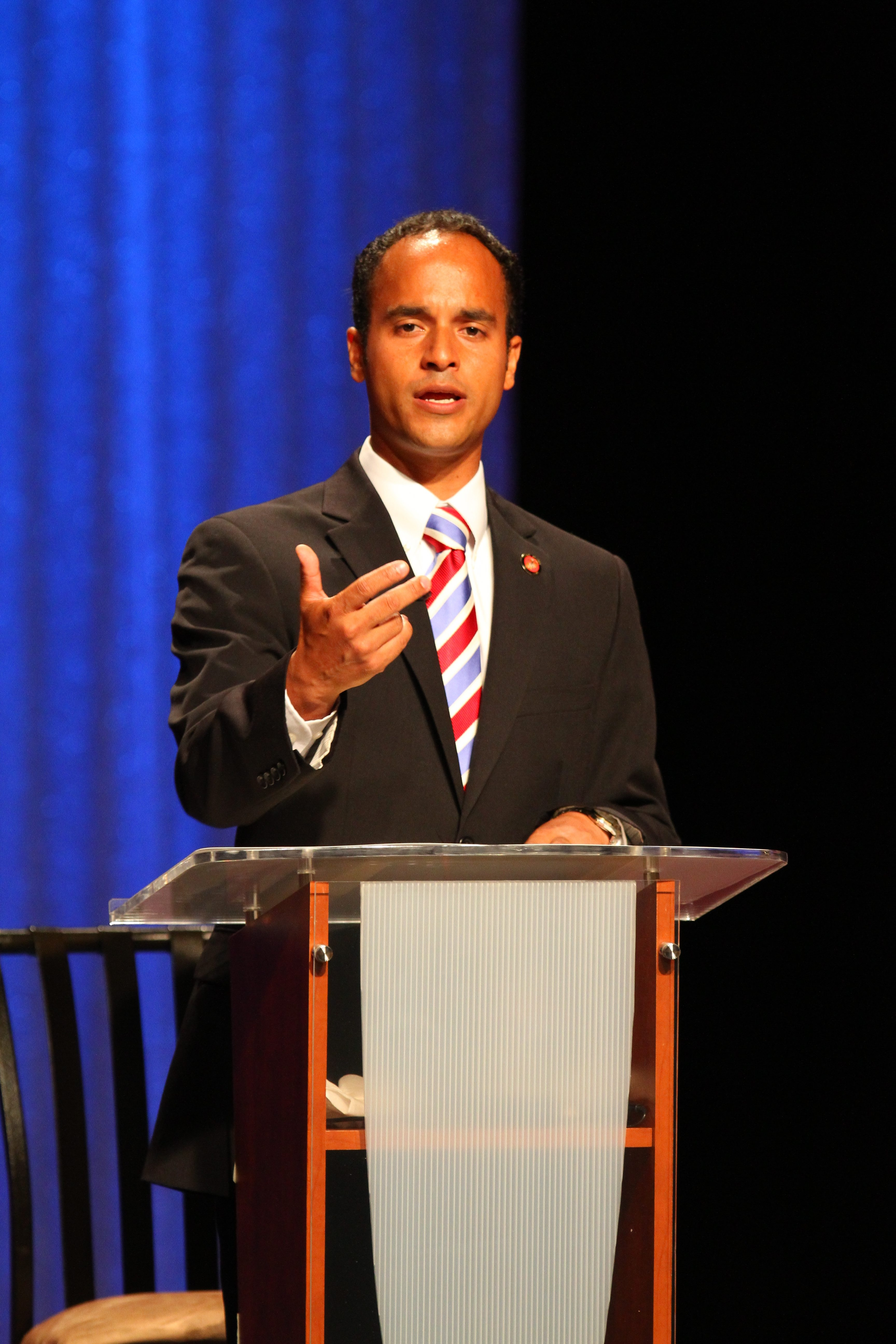 """Sergio R. Rodriguez, GOP candidate, says Mayor Byron W. Brown """"should jump at the opportunity"""" to offer his ideas to the people."""