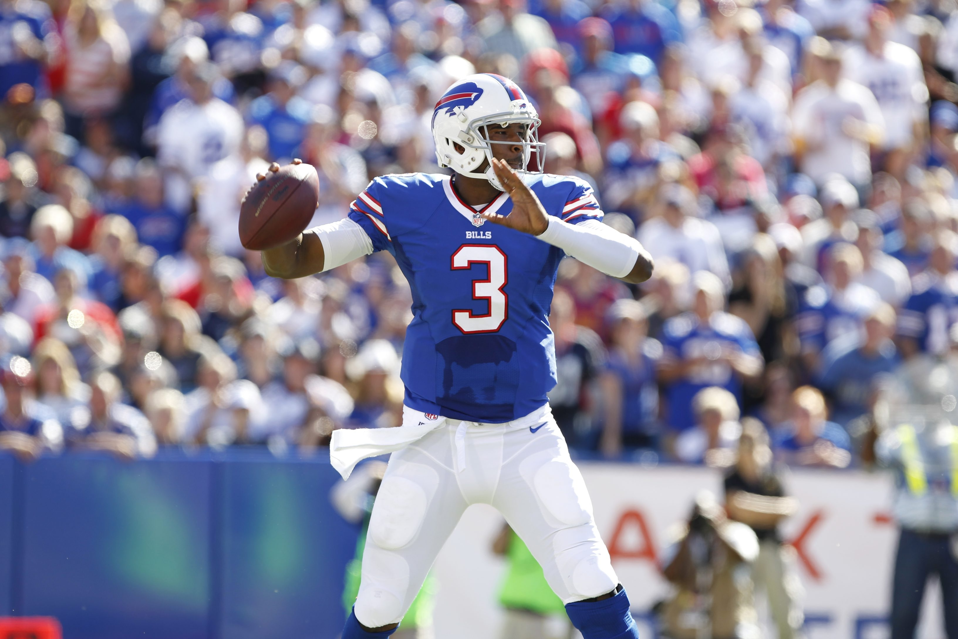 For 50 minutes on Sunday, Bills rookie quarterback EJ Manuel outplayed Tom Brady.  Harry Scull Jr./Buffalo News