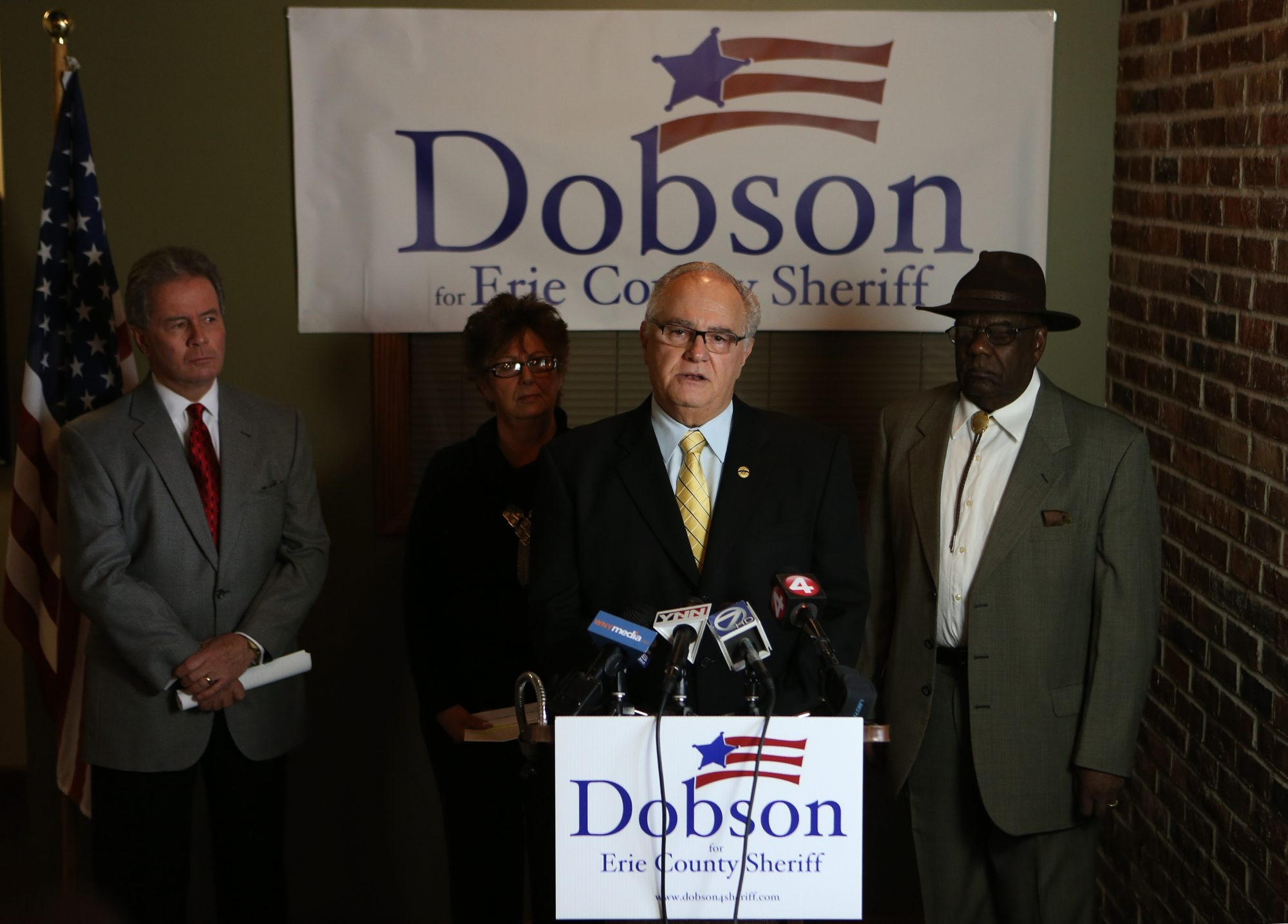 Bert D. Dunn, left, is running against Richard E. Dobson Sr., right, in the Democratic primary race for Erie County sheriff. The campaigns of both candidates have been marked by insider rivalries.