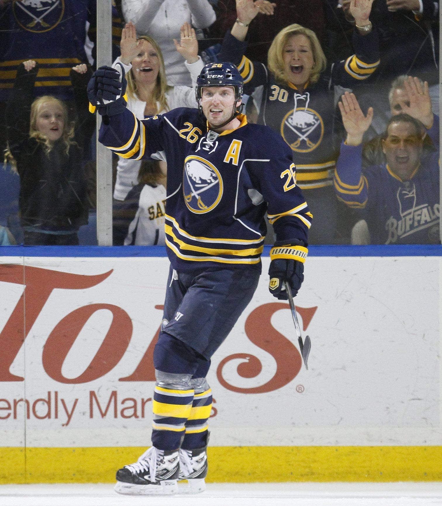 Thomas Vanek will try to get back to hockey while fielding questions about his uncertain future with the Sabres.