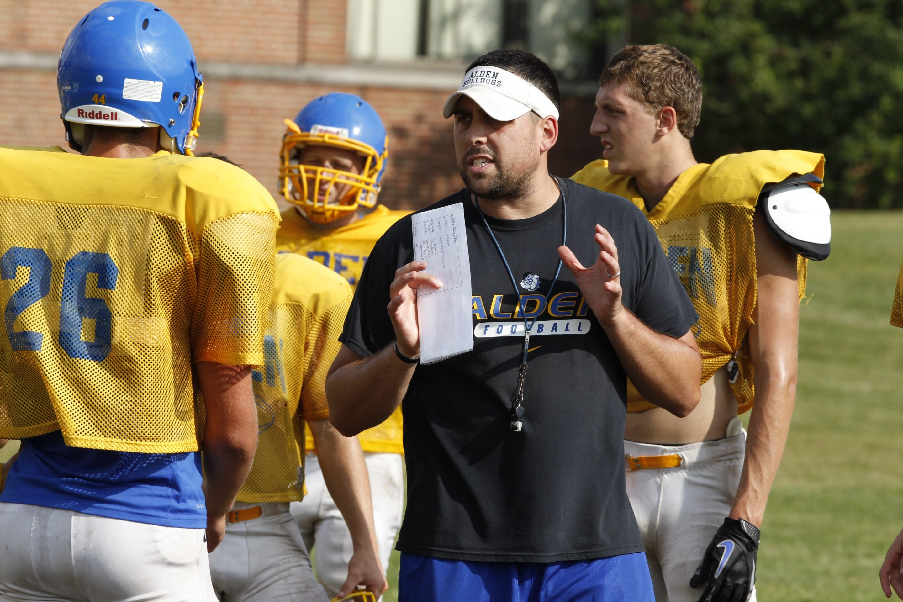 Coach Rob Currin and his Alden Bulldogs host Dunkirk tonight at 7.