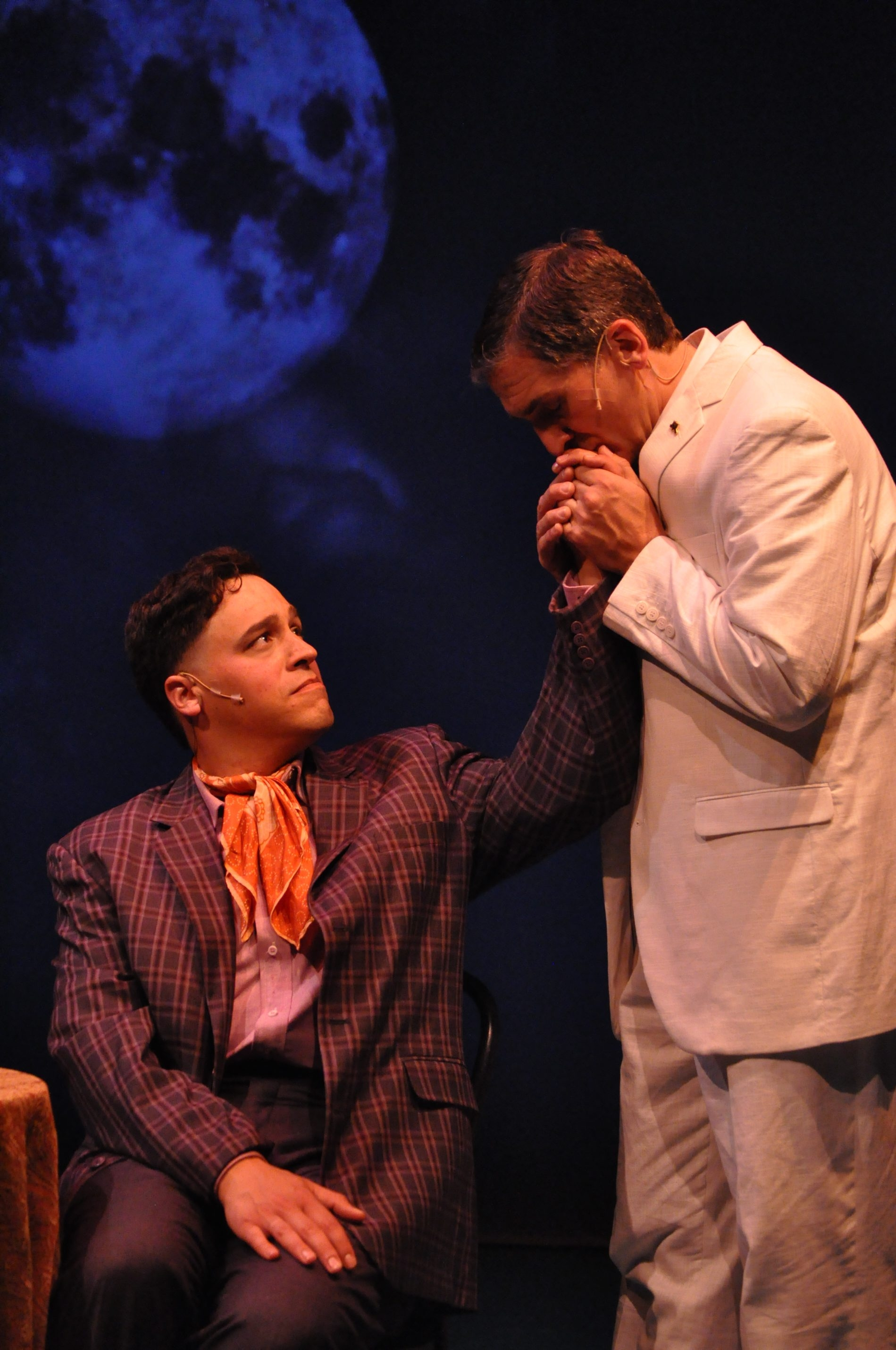 """Ben Puglisi and Gregory Gjurich star in MusicalFare Theatre's production of the musical """"La Cage aux Folles."""""""