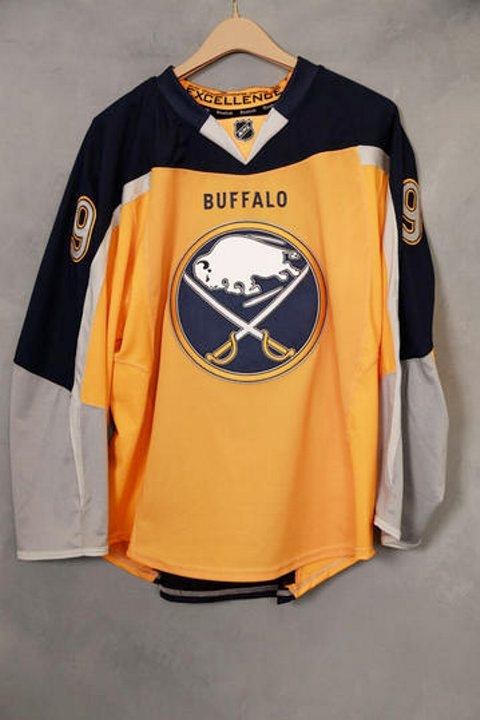 The new third jersey is the first Sabres sweater to be primarily gold.