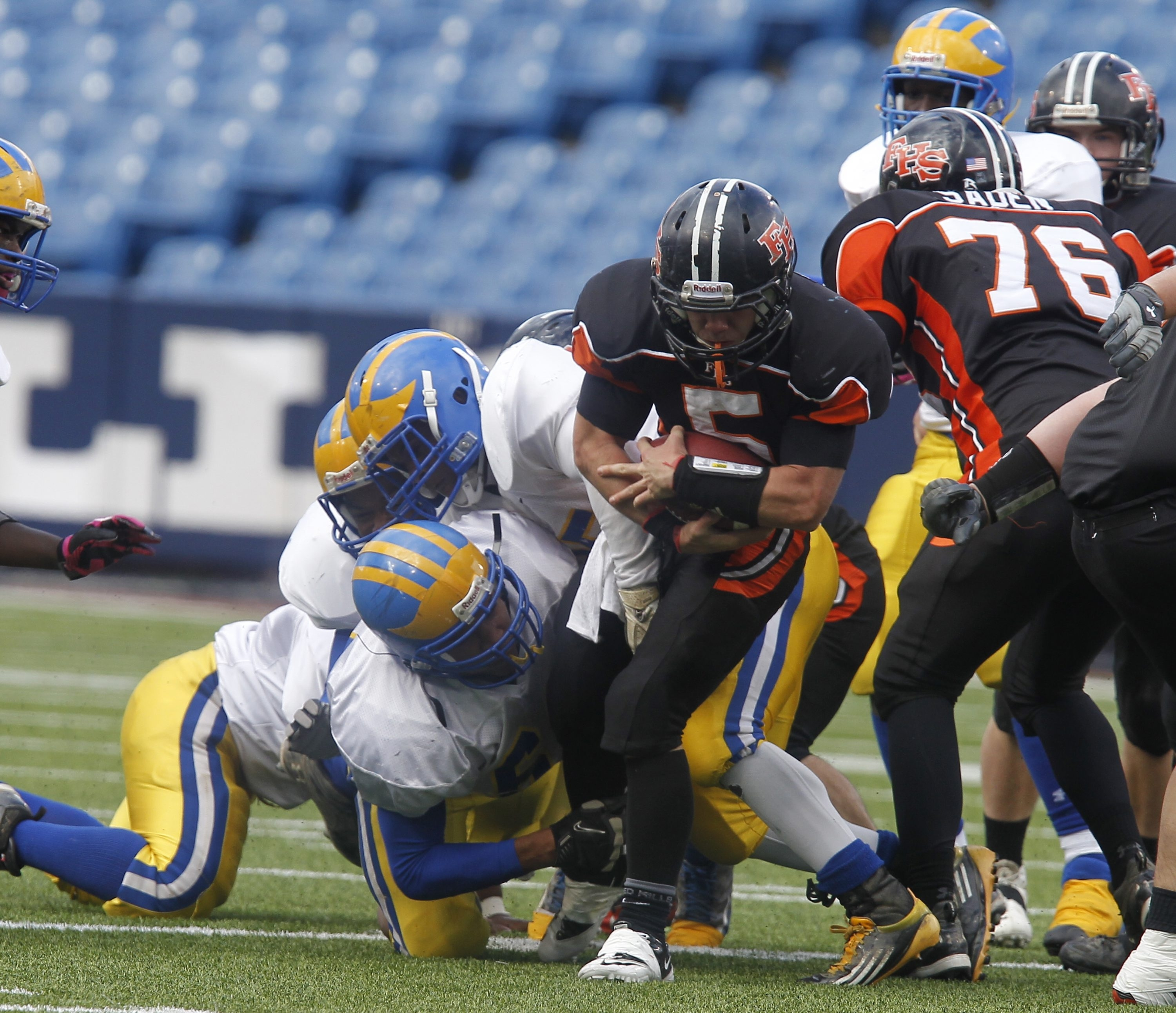 Cody Smith (5) and Fredonia will try to return to The Ralph; the Hillbillies lost in last year's C final.