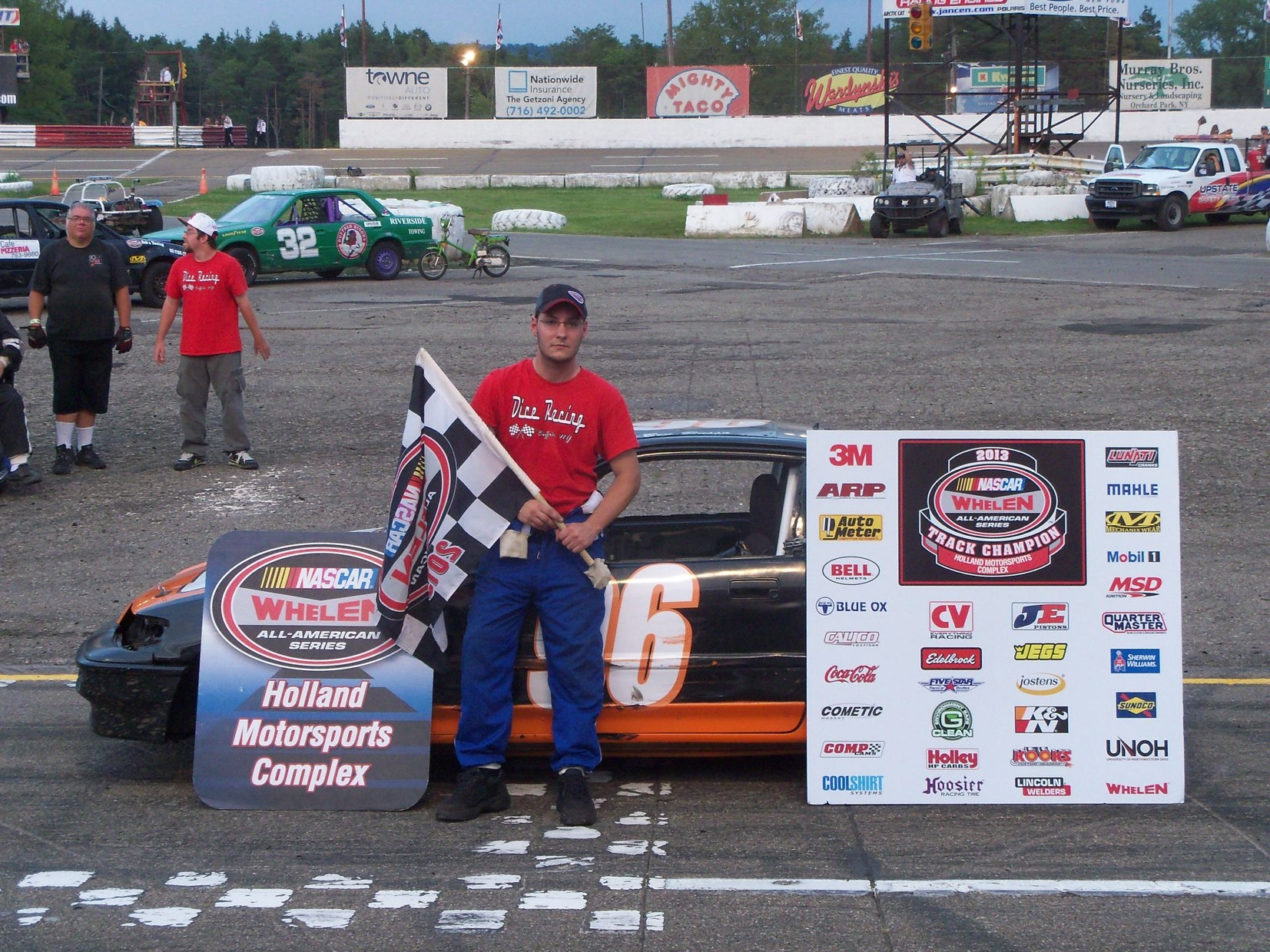 Ben Russo is the Hornets division champion at Holland Motorsports Complex.