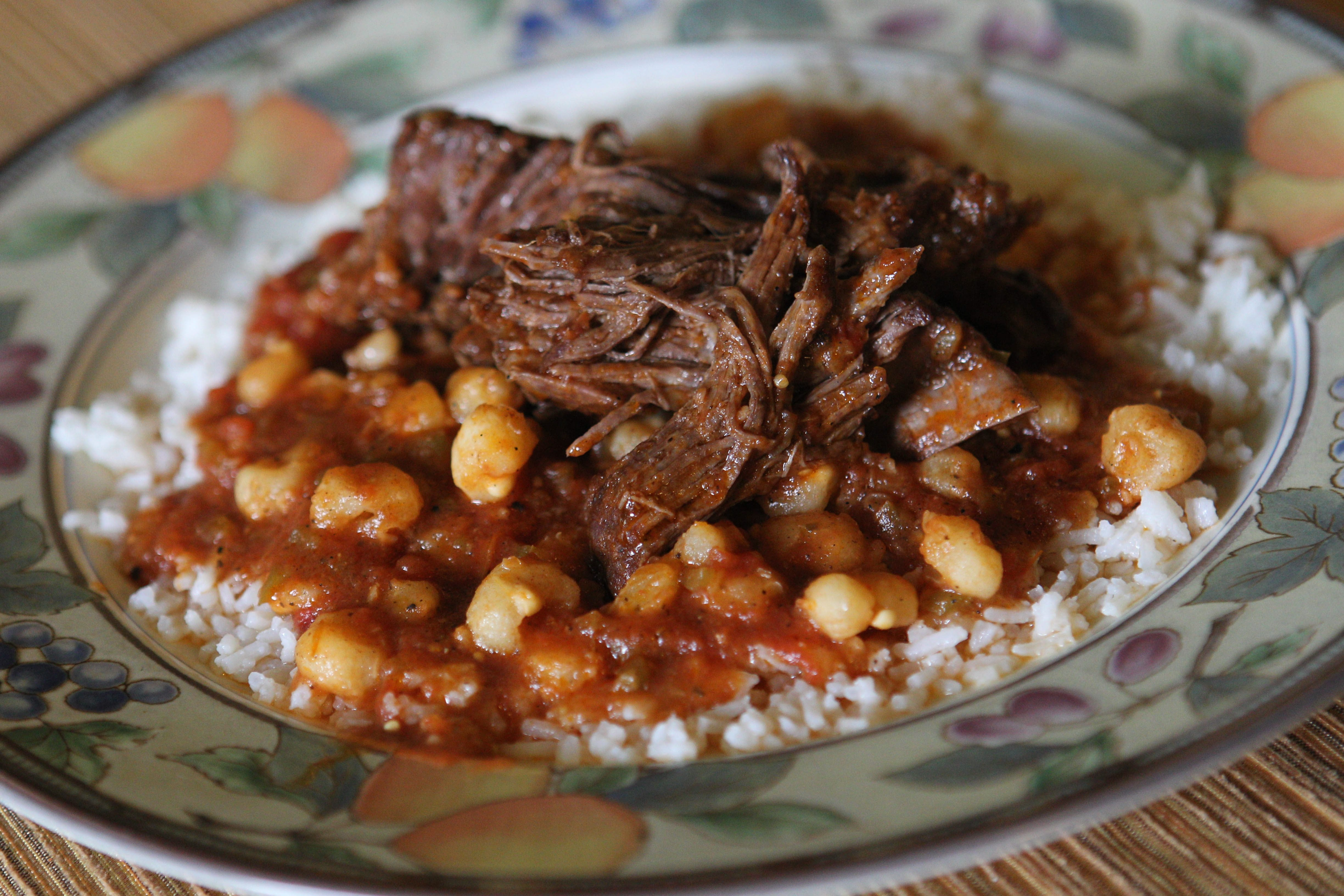 Hominy anchors this hearty Mexican pot roast, an easy-to-make weekend dinner.