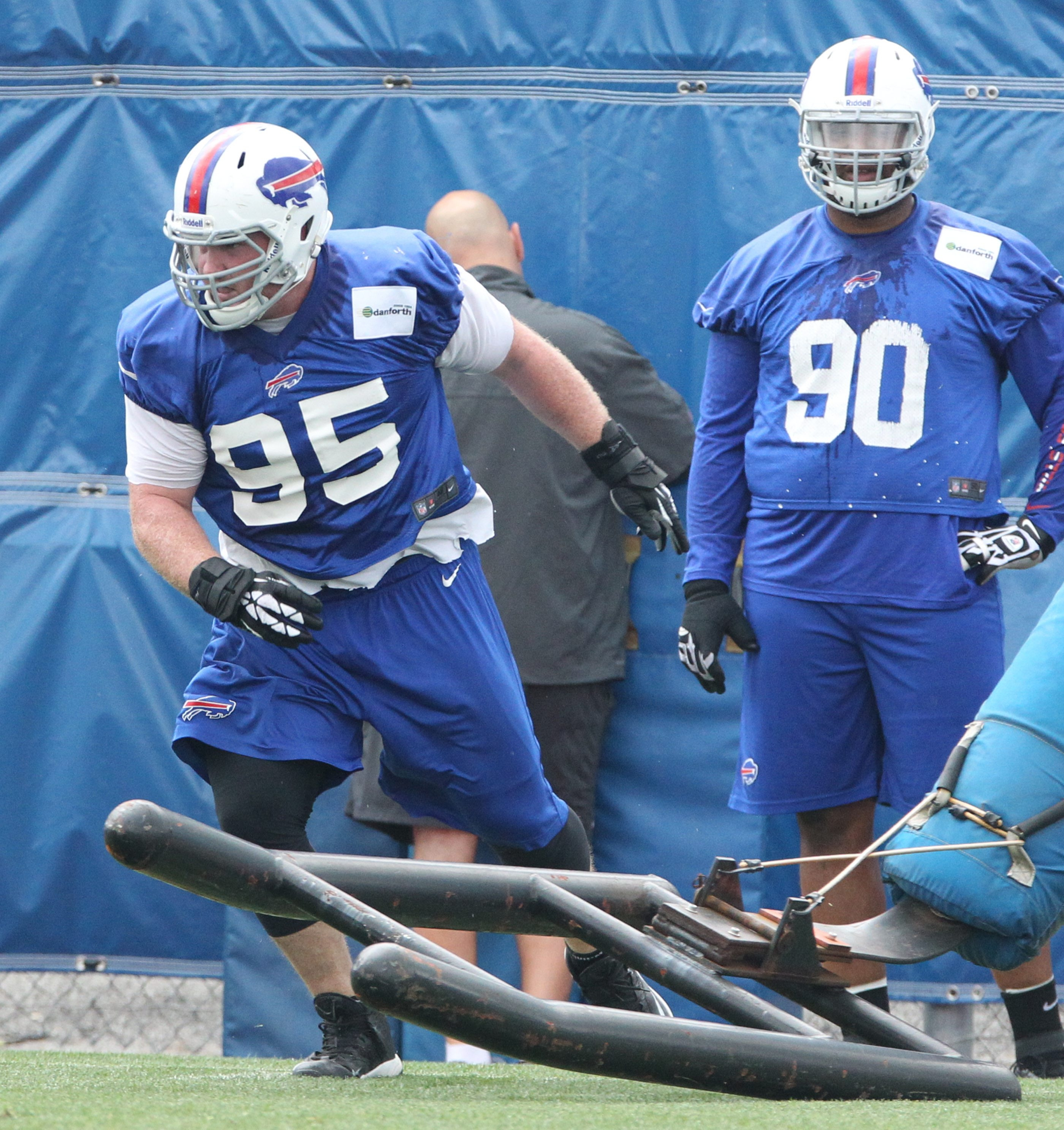 Kyle Williams (95) says it's on the defense to take the pressure off the offense by playing well and doing its job.