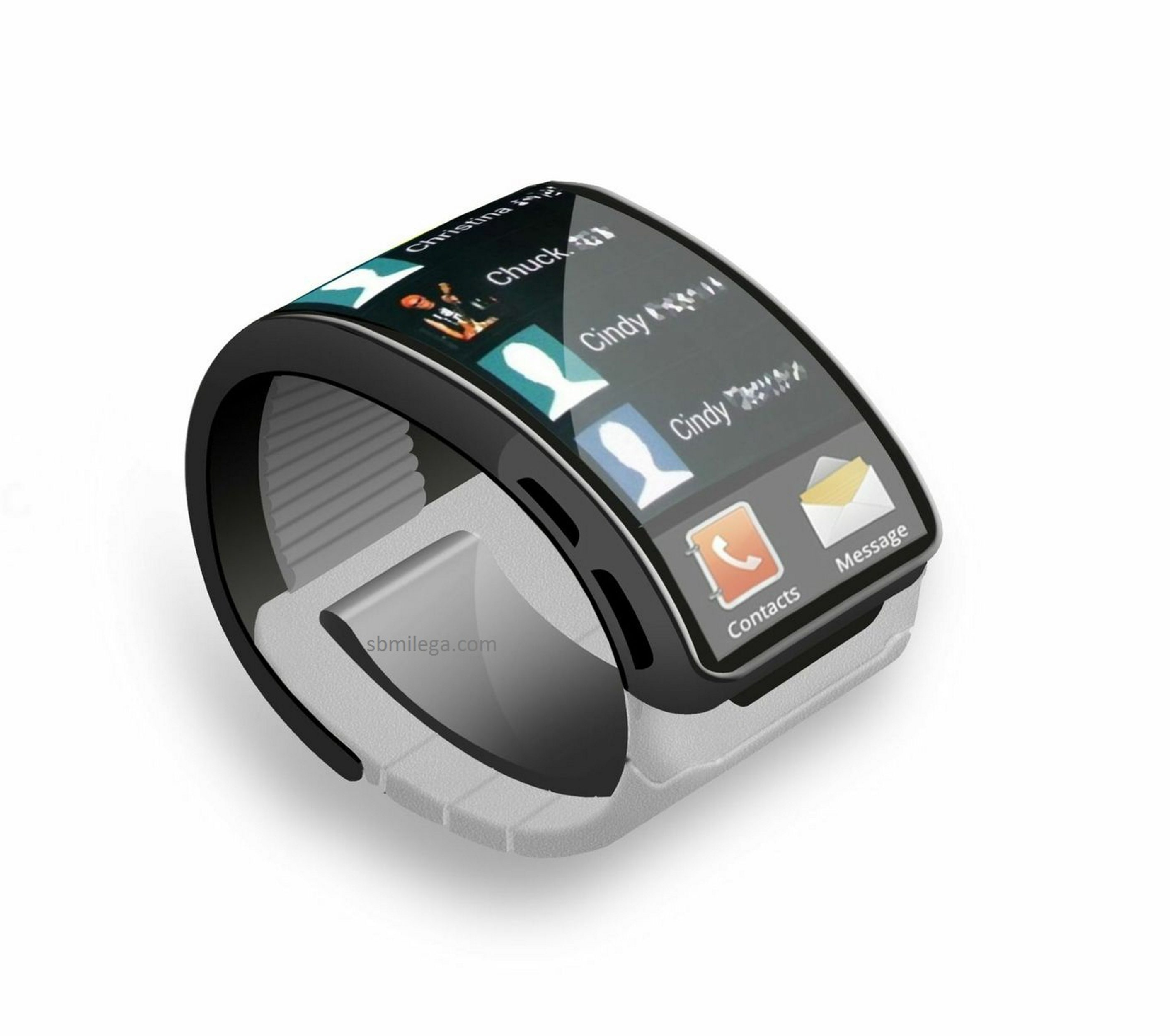 Wearable gadgets like this smart watch are starting to hit the market.