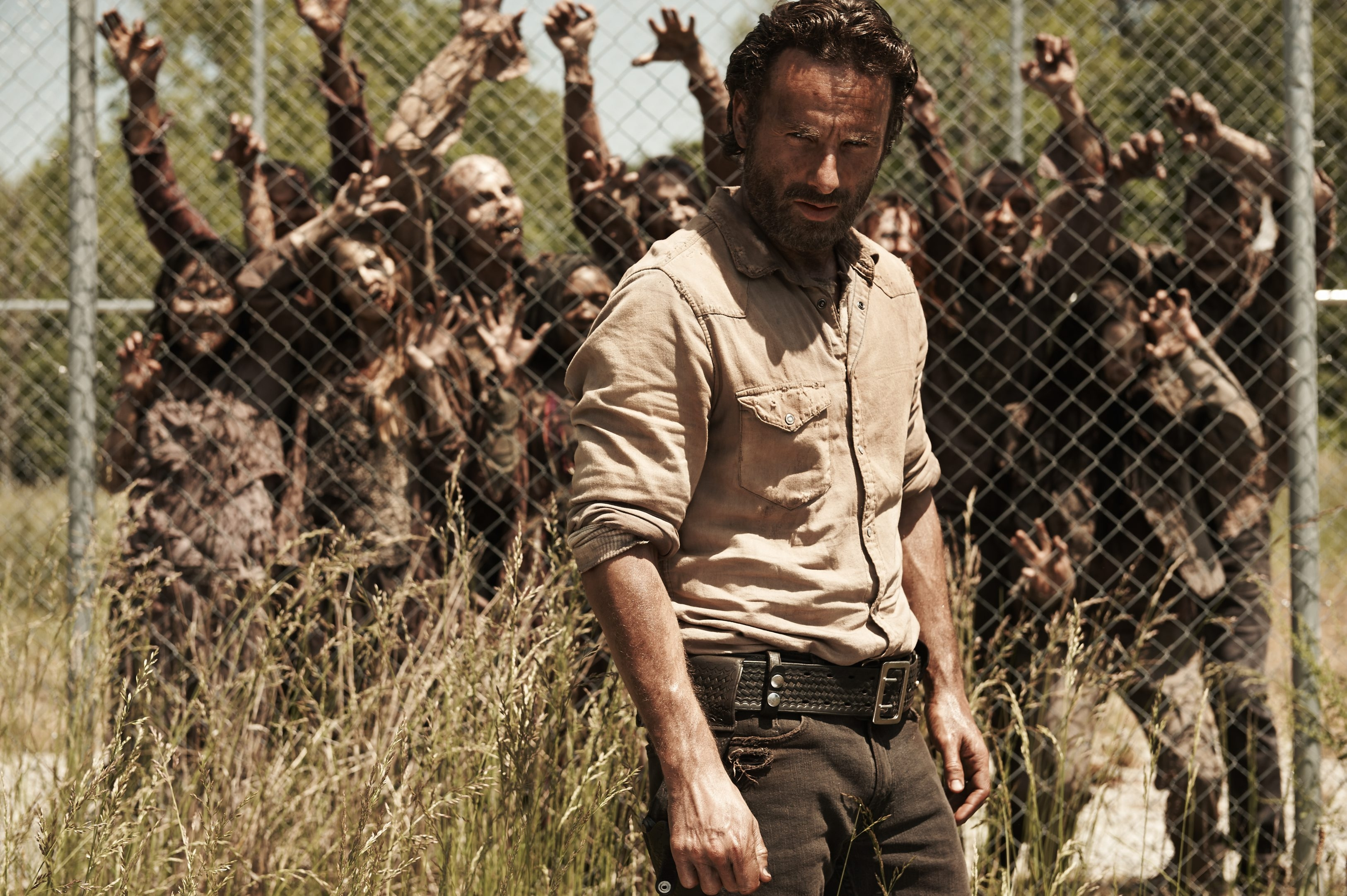 """Rick Grimes (Andrew Lincoln) and the rest of the group have plenty to worry about on this season's """"The Walking Dead."""""""