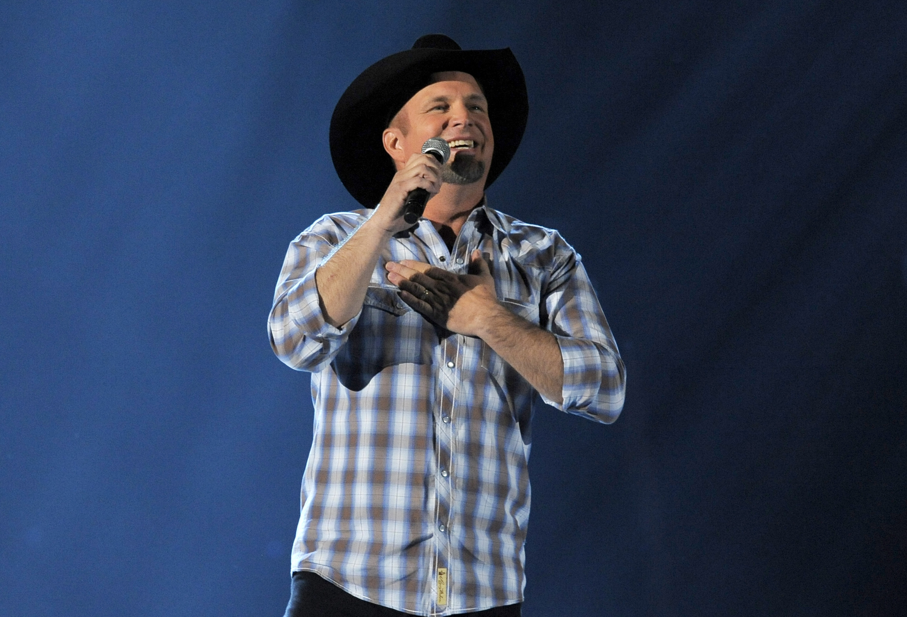 Garth Brooks performs recently in Las Vegas, Nev. Brooks will perform a rare live broadcast concert special from the Encore Theater at the Wynn Las Vegas on Friday, Nov. 29.