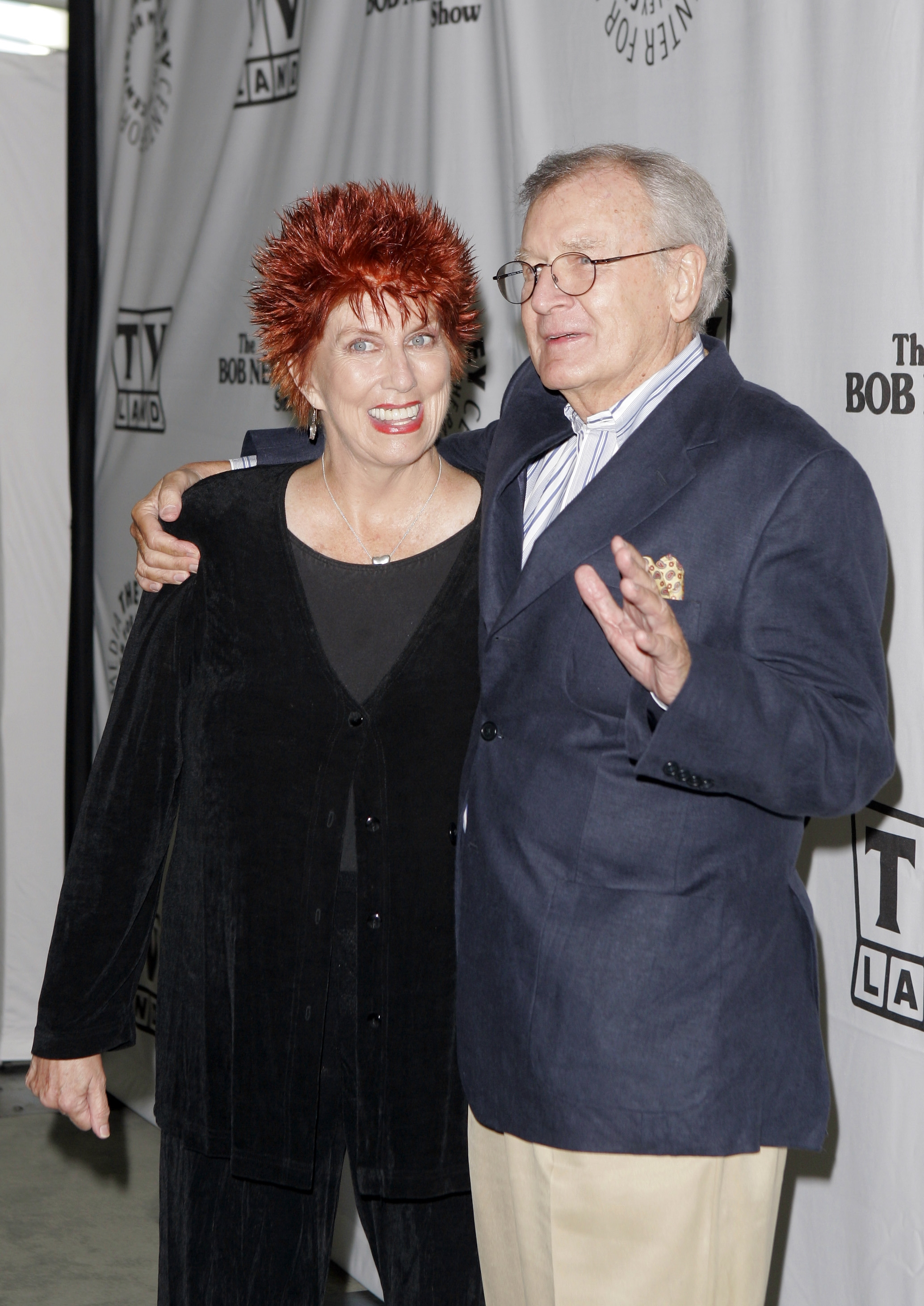 "In this Wednesday, Sept. 5, 2007 file photo, actors Marcia Wallace and Bill Daily arrive for TV Land's 35th anniversary tribute to ""The Bob Newhart Show"" in Beverly Hills, Calif. Wallace, who played a receptionist on the show, and the voice of Edna Krabappel on ""The Simpsons,"" has died."