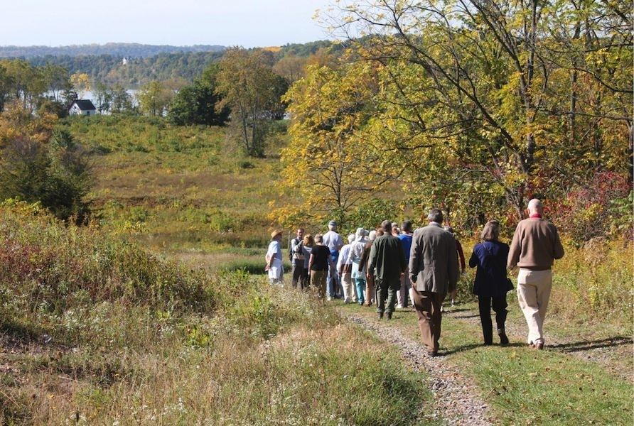 Conservationists visit the Stella Niagara Preserve along the Niagara River.