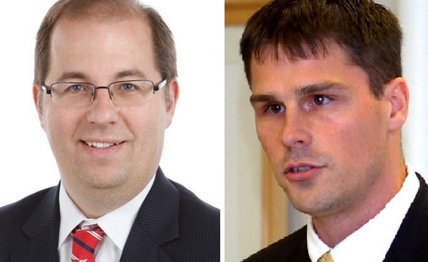 Walter L. Rooth III, left, is challenging incumbent Hamburg Supervisor Steven J. Walters.