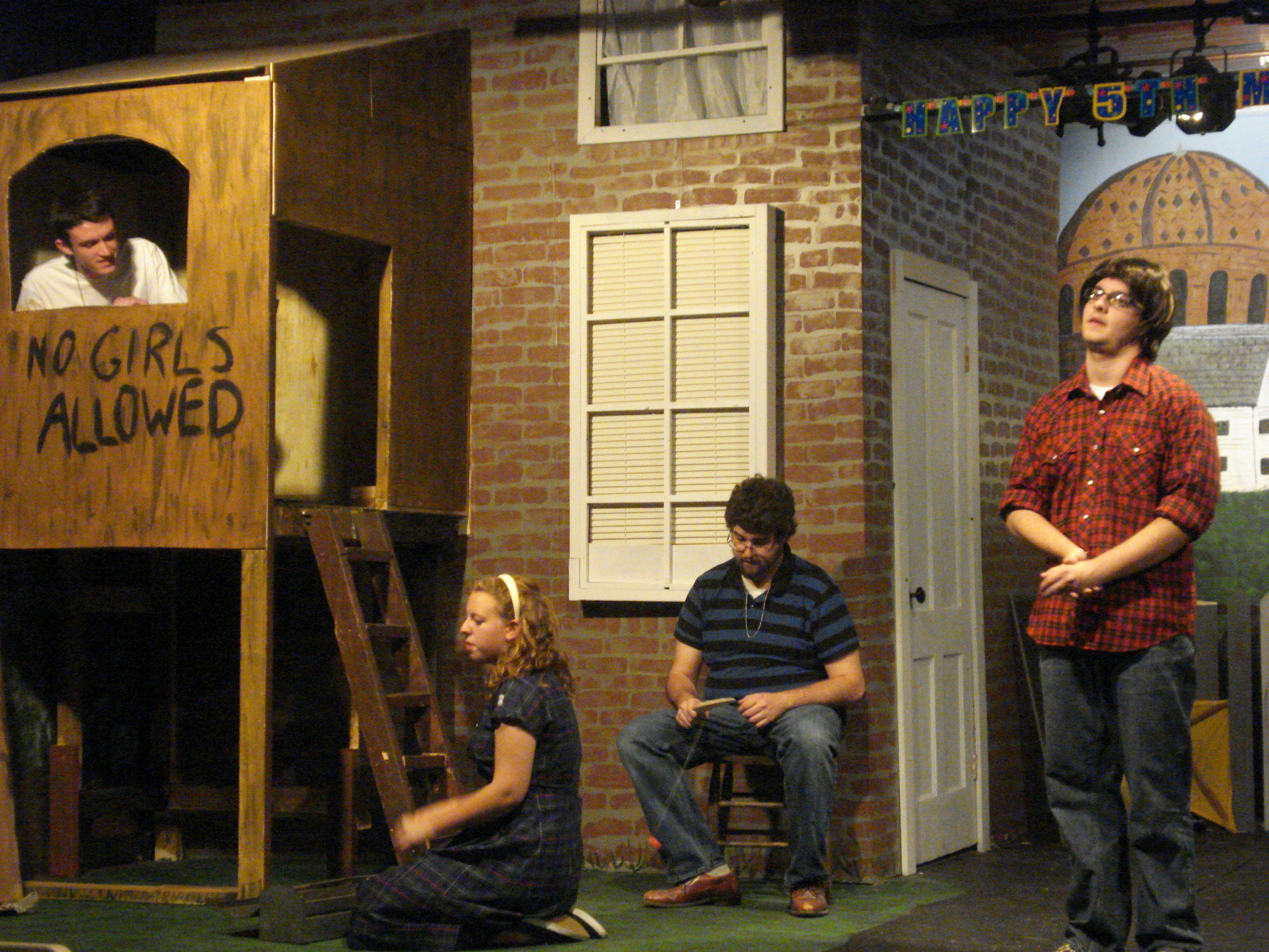 From left: Michael Green as Eddie, Erin Sheehan as Annie, Dylan Brozyna as Georgie and Max Gucinski as Rudy