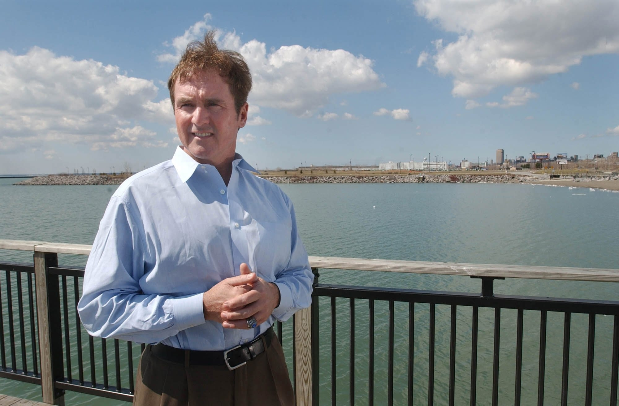 """Rep. Brian Higgins says, """"The water testing will determine whether or not the waterway is contaminated. If it's contaminated, it can't be used as a swimming beach.""""  Derek Gee/News file photo"""