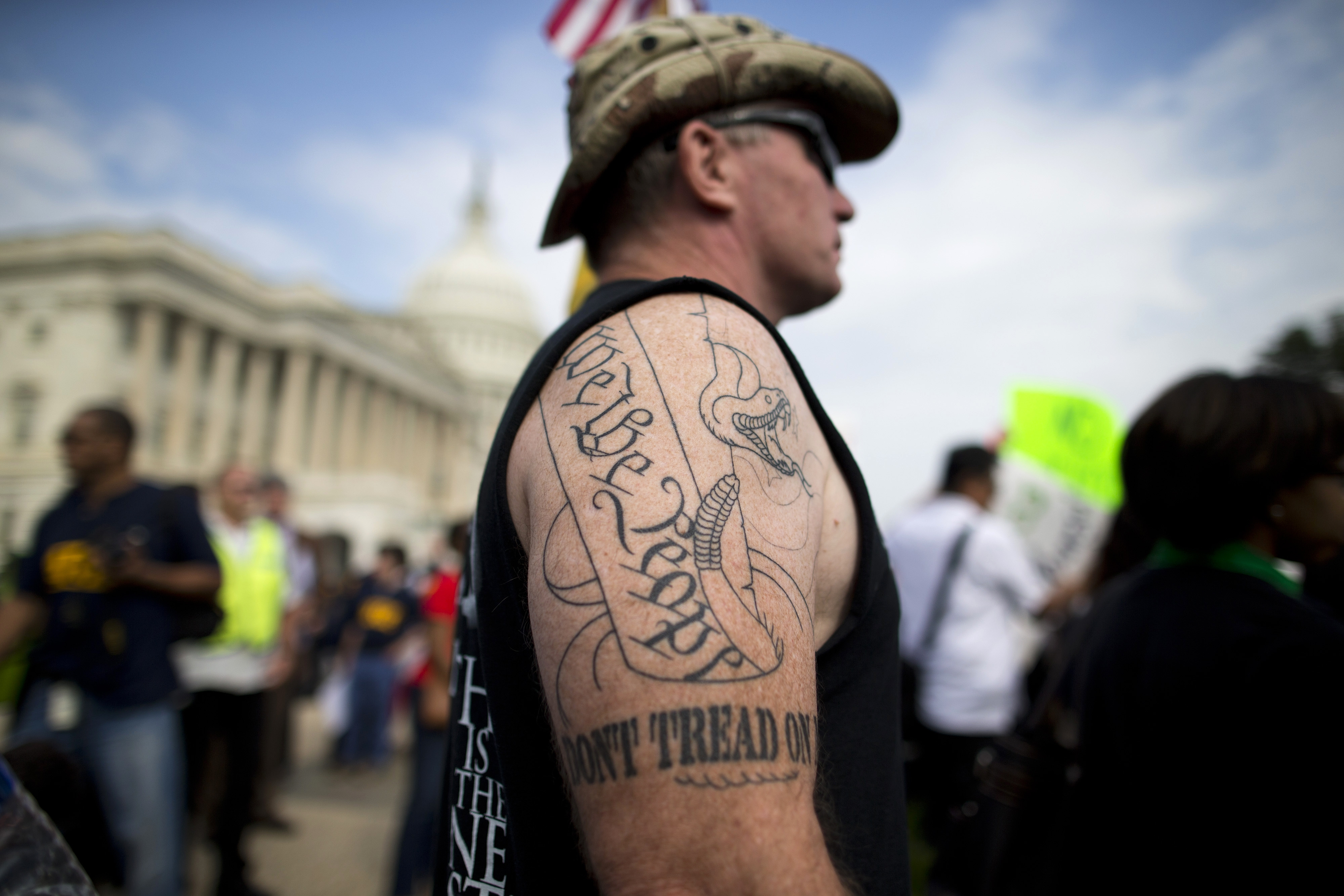 Members of Congress are more and more stuck between tea party true believers, like Greg Cummings of Cincinnati, Ohio, who was on Capitol Hill last week, and voters at home.