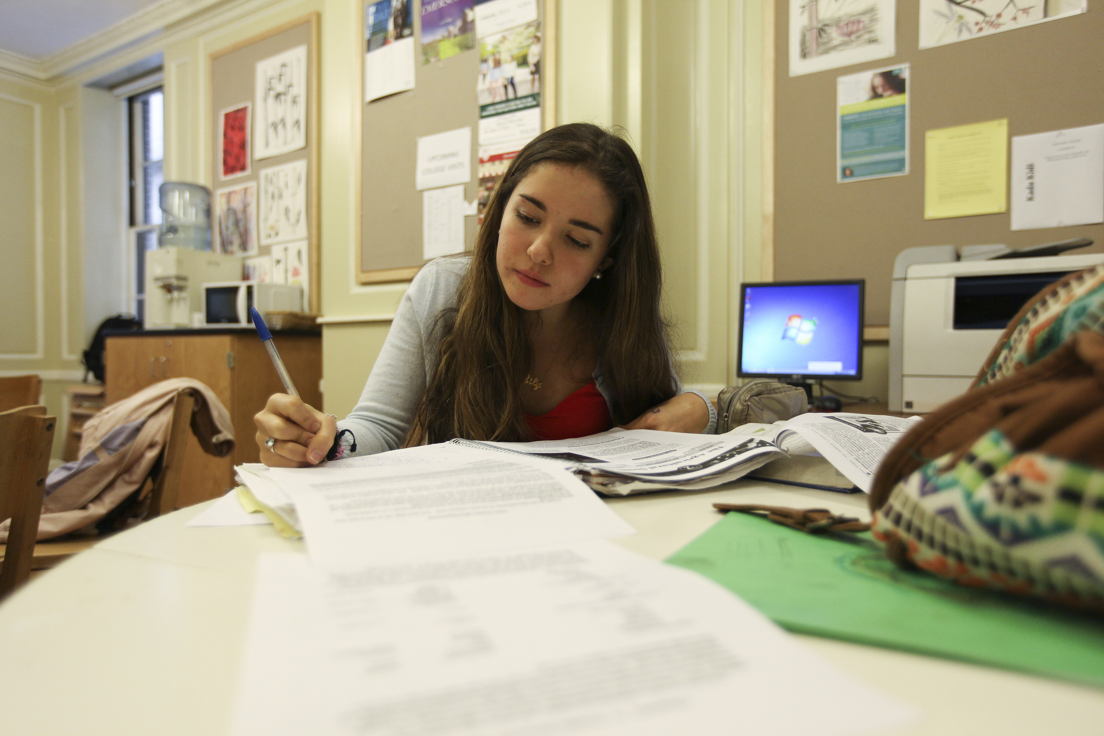 Lily Geiger, 17, of New York City, experienced problems when uploading her college application.