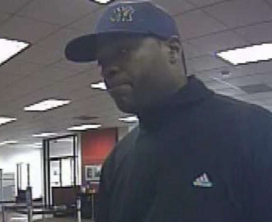 This photo shows the suspect in the robbery of the Key Bank on Niagara Falls Boulevard in the Town of Tonawanda on Thursday.