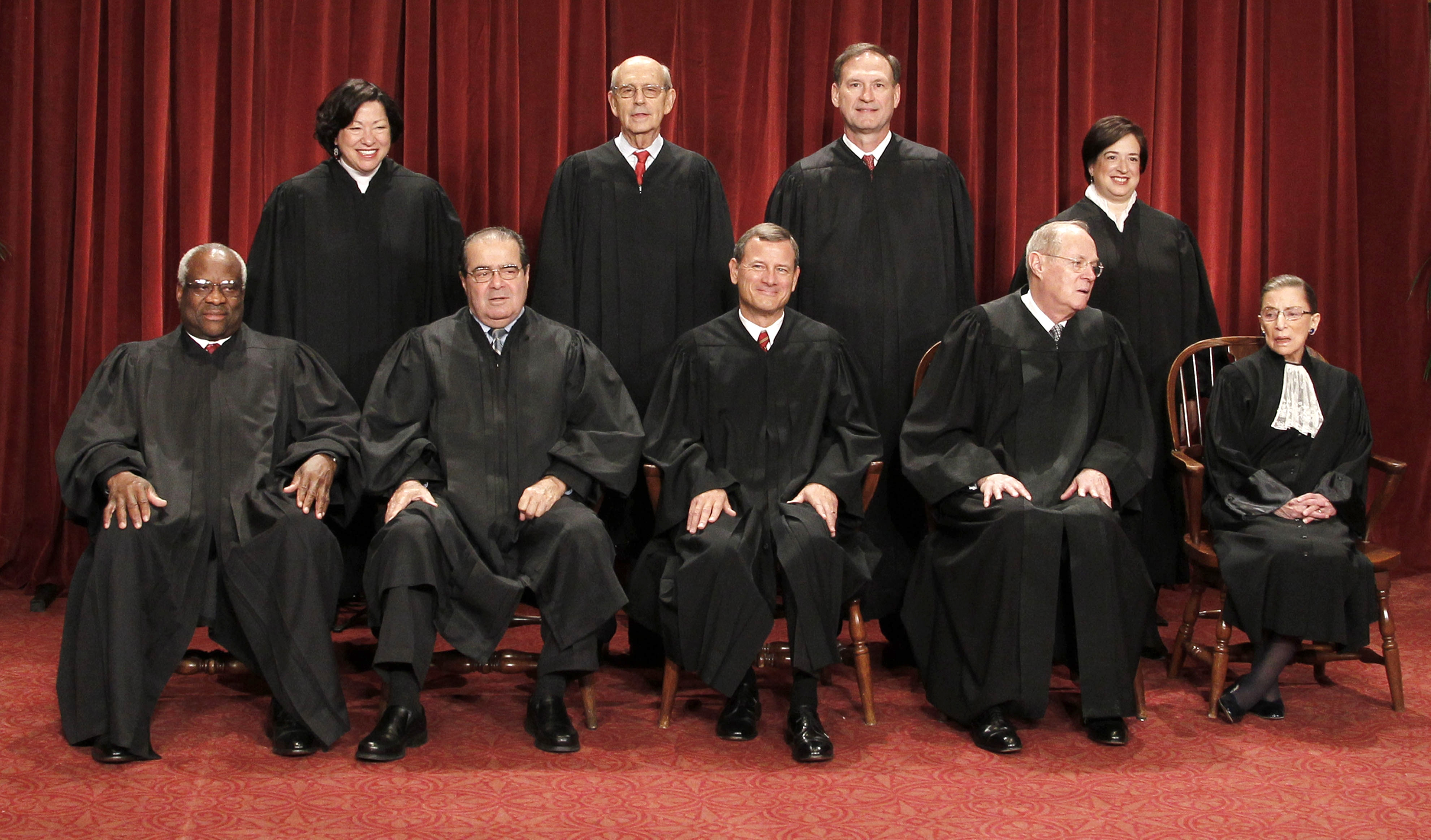 Campaign finance, affirmative action, prayer and abortion cases all are on the calendar for the Supreme Court. (AP photo)