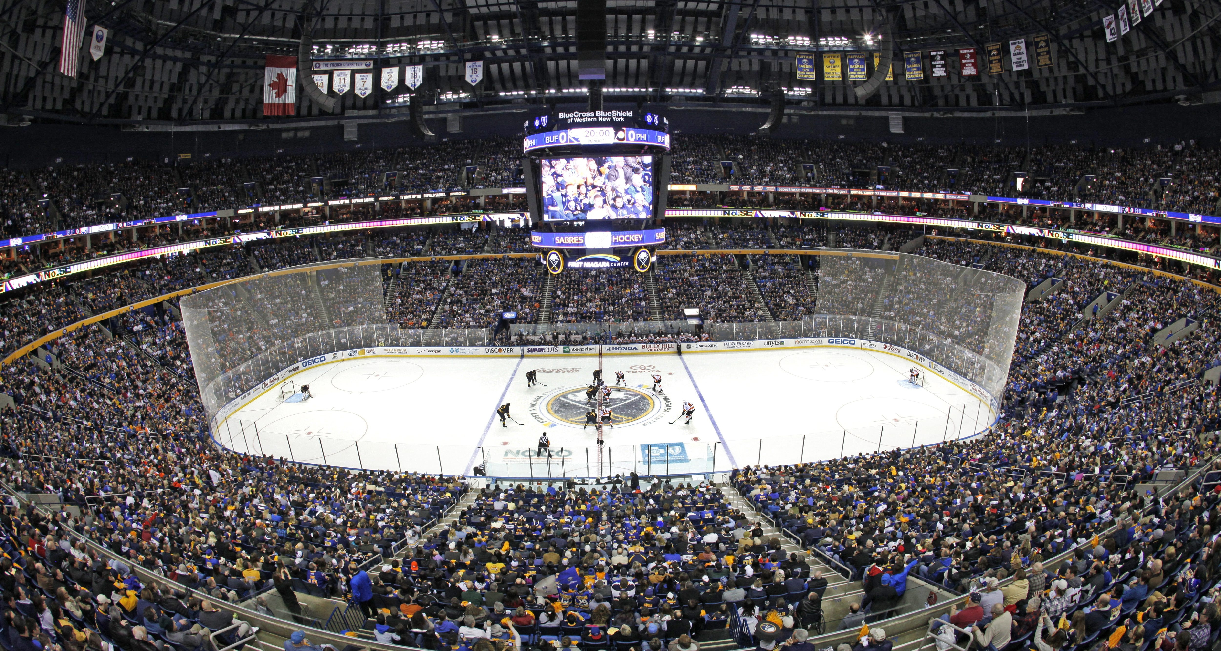Canisius College, Niagara University and the Metro Atlantic Athletic Conference would serve as hosts for the Frozen Four games in First Niagara Center.