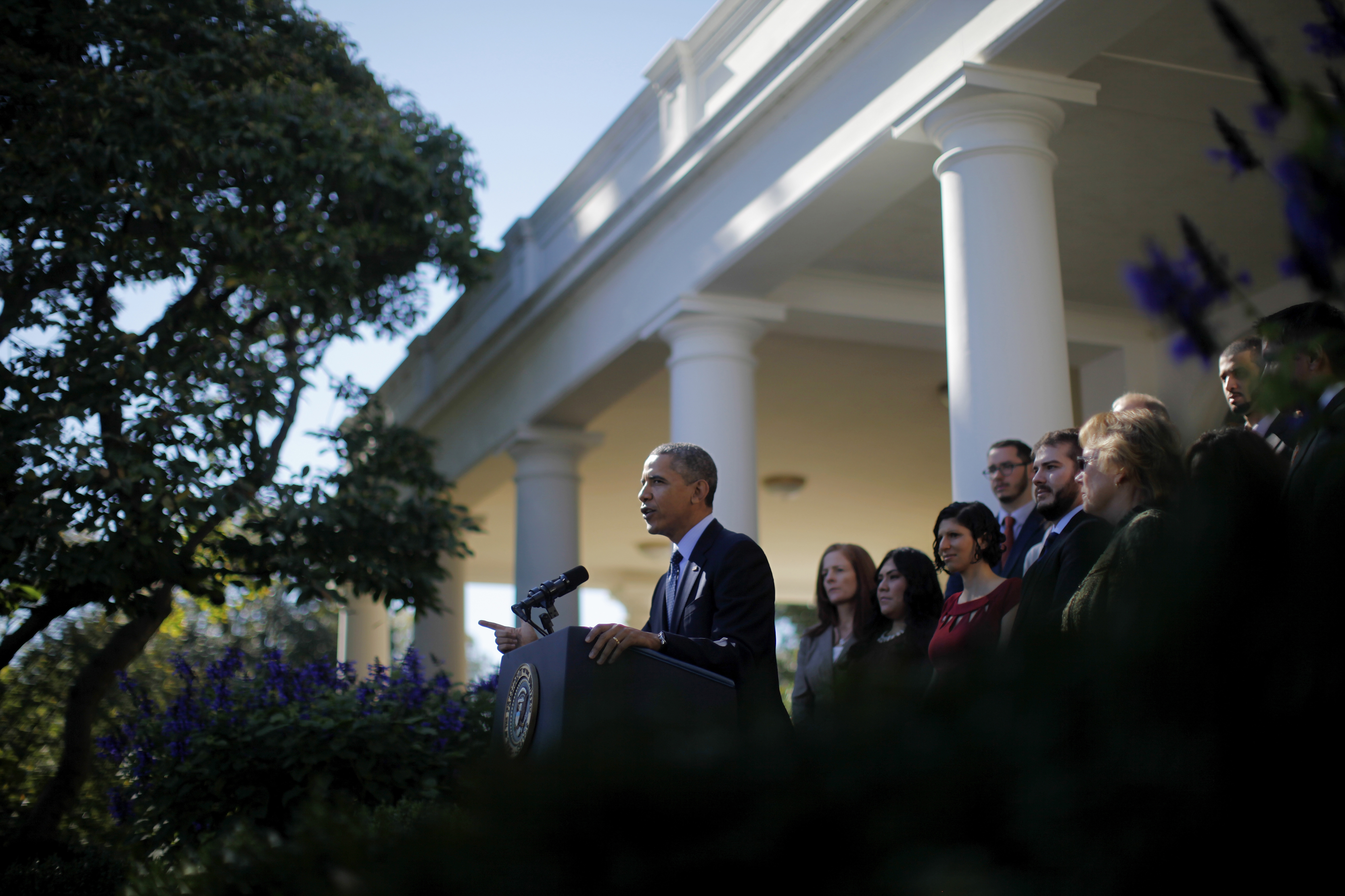 At a Rose Garden event Monday, President Obama stated the obvious: that the problems involved in launch of the government's health care website are unacceptable. (AP photo)
