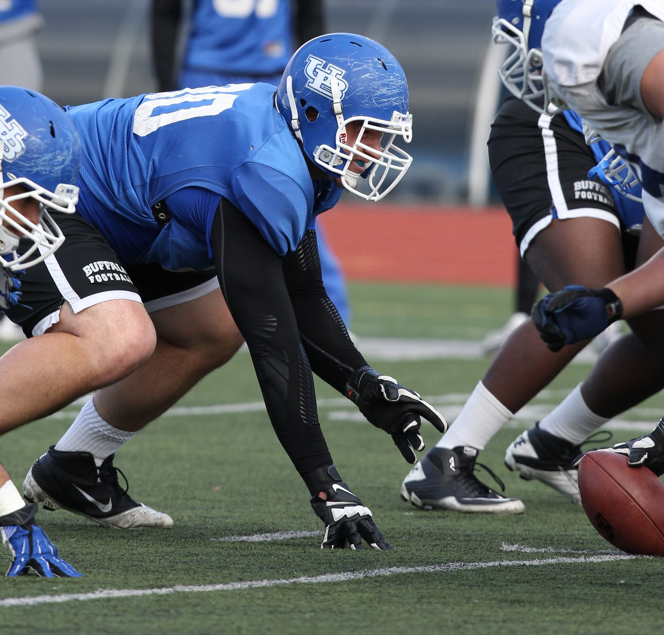 Nose tackle Kristjan Sokoli gained 80 pounds to play football at UB.