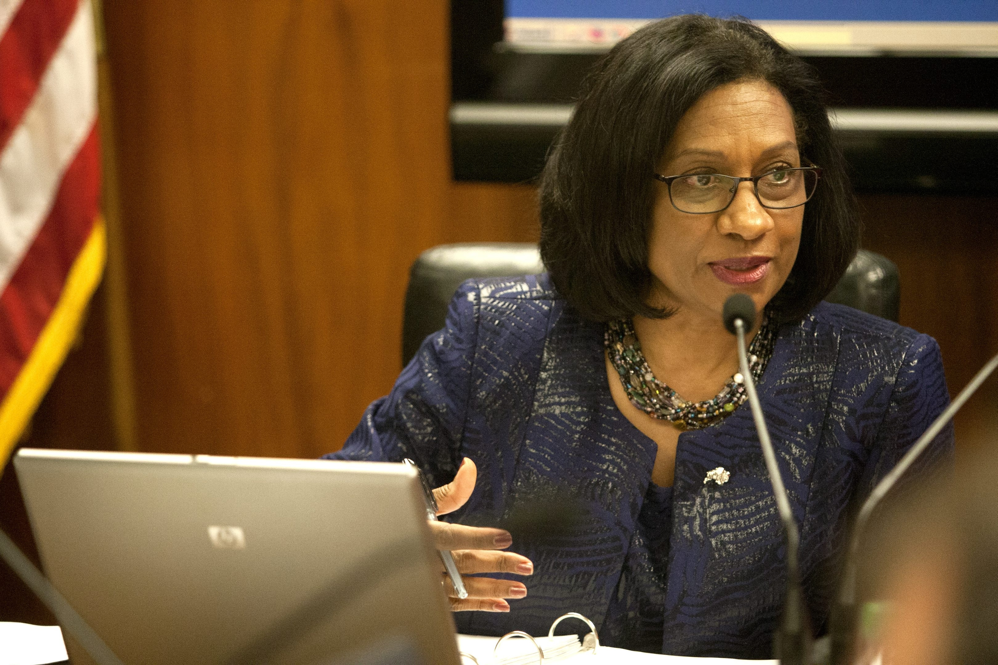School Superintendent Pamela C. Brown's expensive reorganization of her central office vastly overshadows the savings she has claimed.