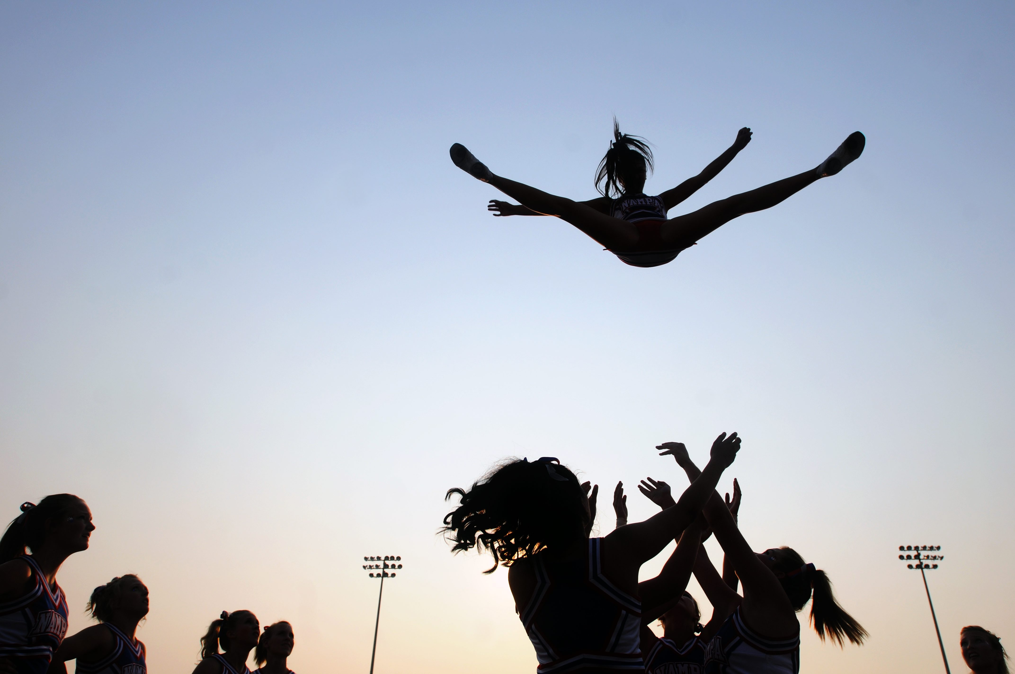 Research shows cheerleading poses by far the greatest risk of catastropic injury to young female participants of any sport.
