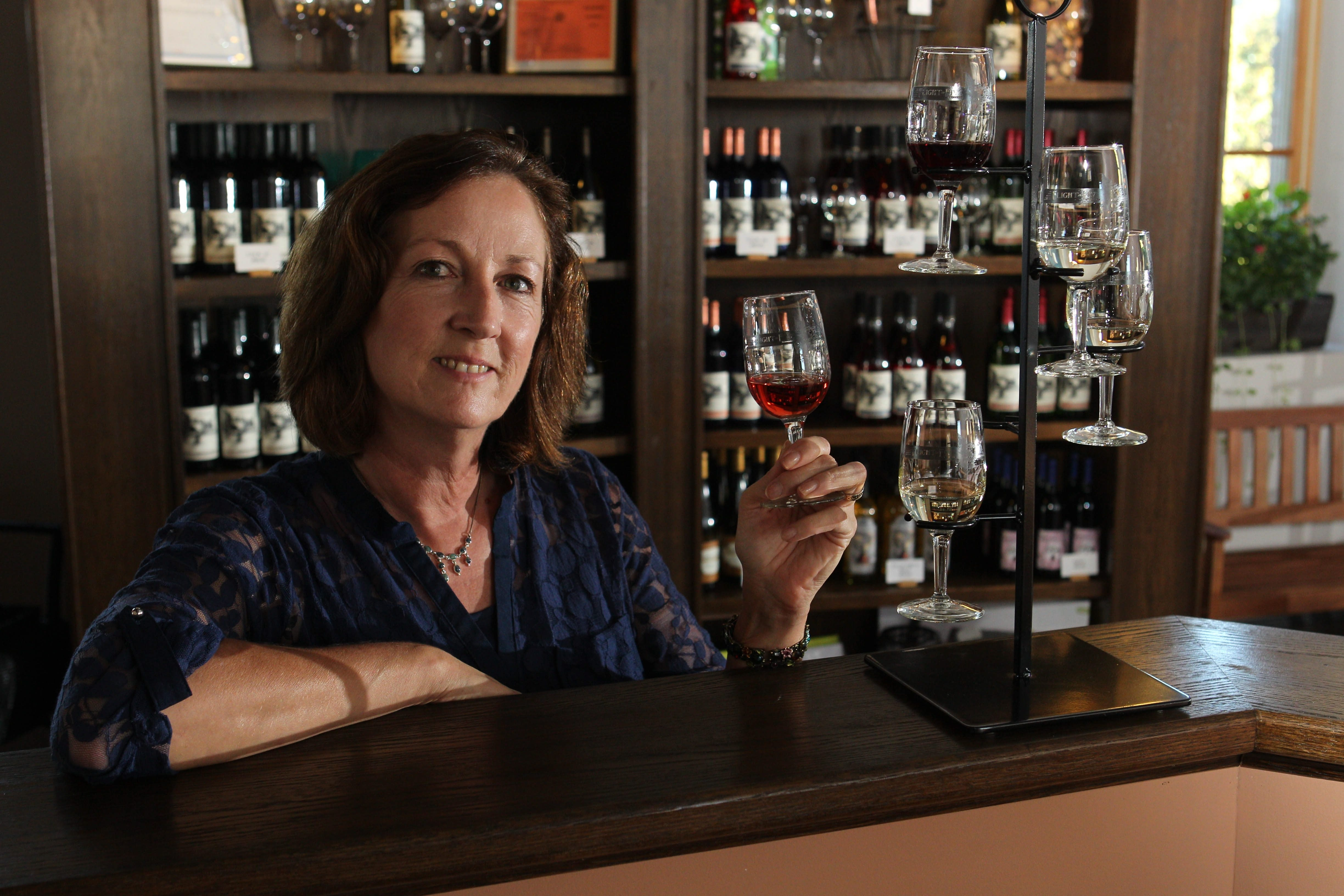 Jacqueline Connelly and her husband, Michael, own Flight of Five Winery in Lockport, an urban winery that combines their love of wine and the Erie Canal.