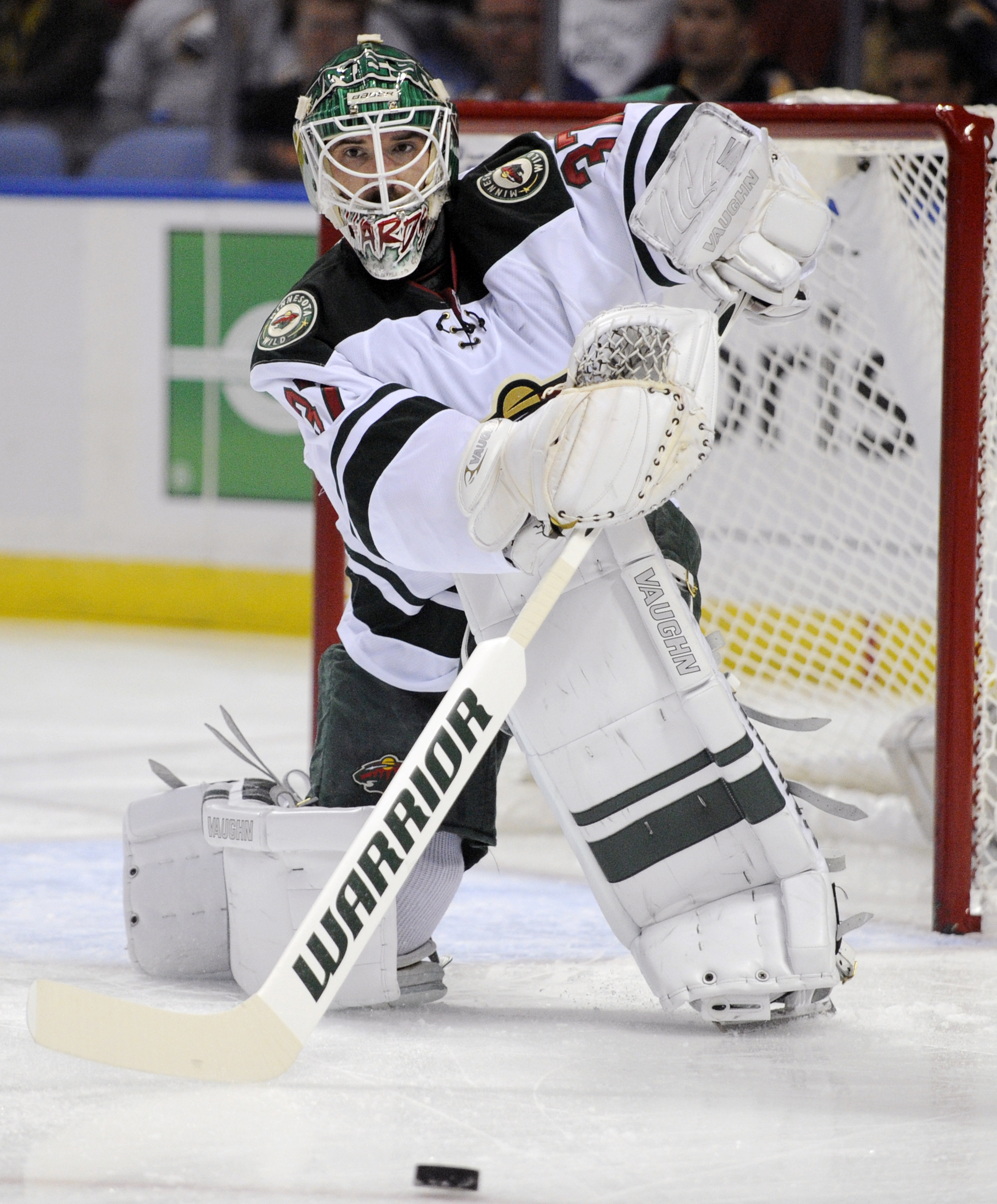 Josh Harding of the Wild is raising money to help fight multiple sclerosis. (Associated Press)
