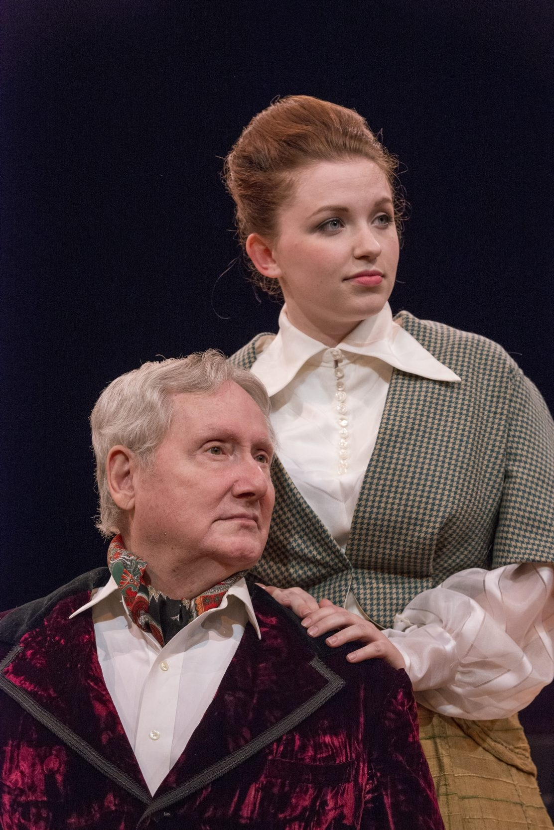 """Gary Darling and Andrea Gollhardt are featured in the Irish Classical Theatre Company's production of """"The Little Foxes."""""""