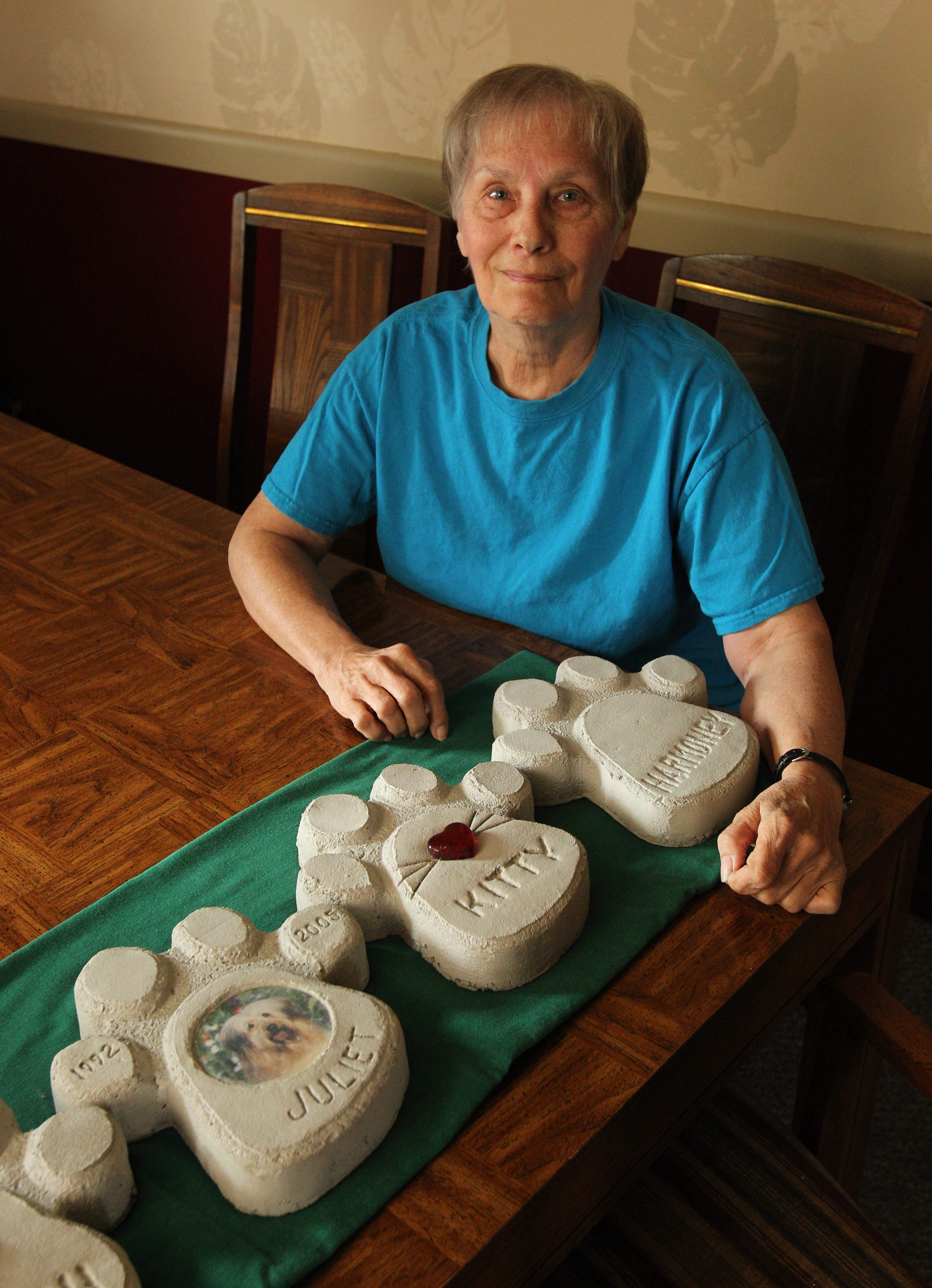 Mary VandenBergh has donated all the plaque proceeds to the Pet Emergency Fund.
