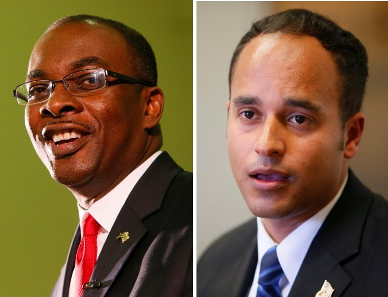 Incumbent Byron W. Brown, left, is facing Sergio Rodriguez in the race to become Buffalo's mayor.
