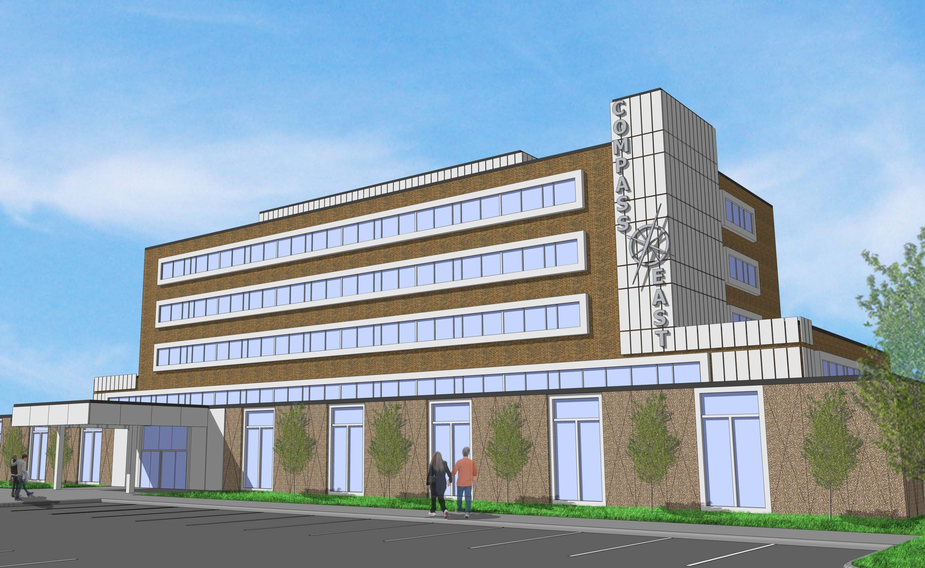 When complete, the former Sheeham Memorial Hospital will reopen as Compass East.
