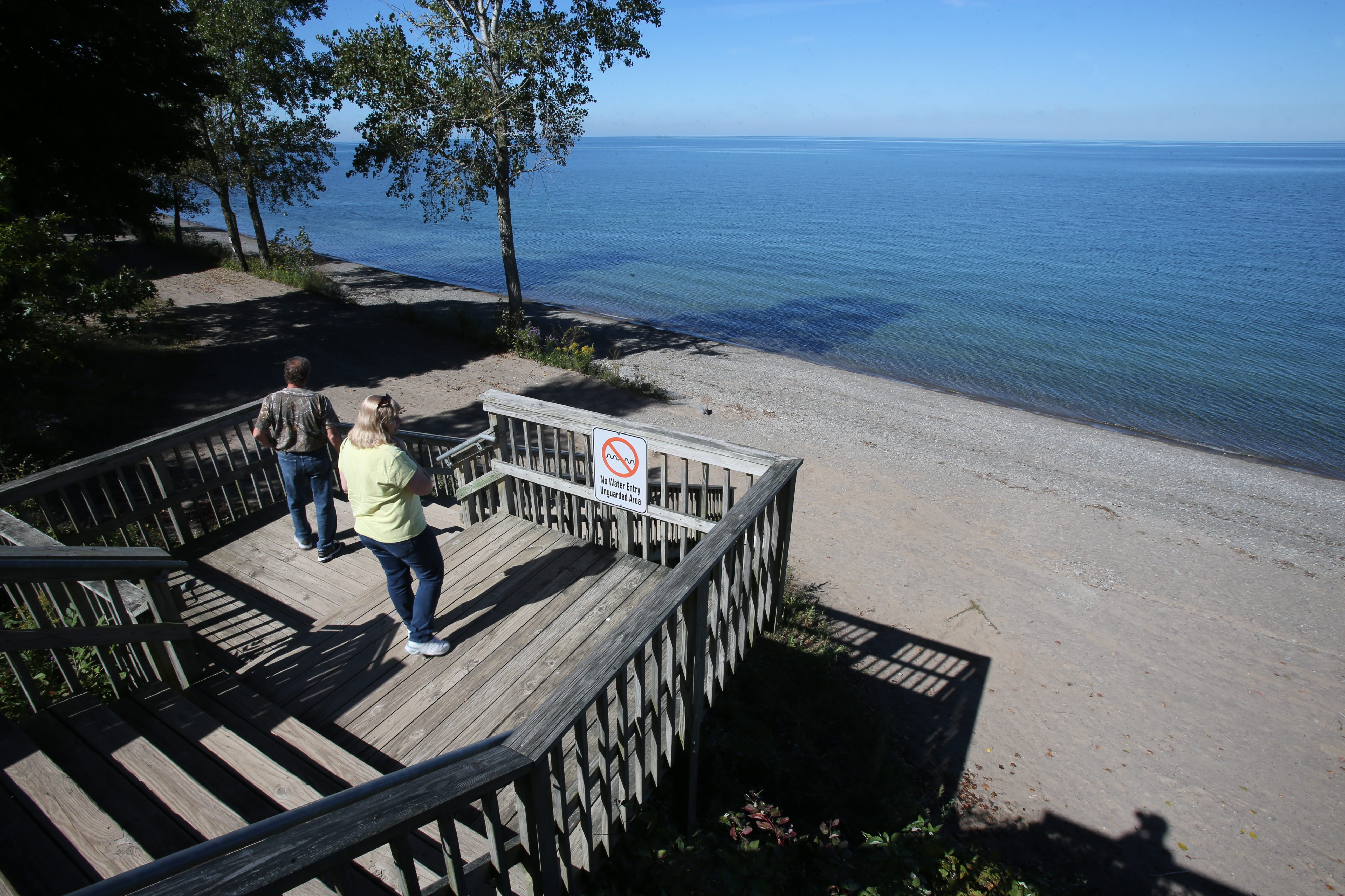 "Visitors head down to the beach at Wilson-Tuscarora State Park,  where a ""Full Moon Adventure"" will be held on the evening of Nov. 17."