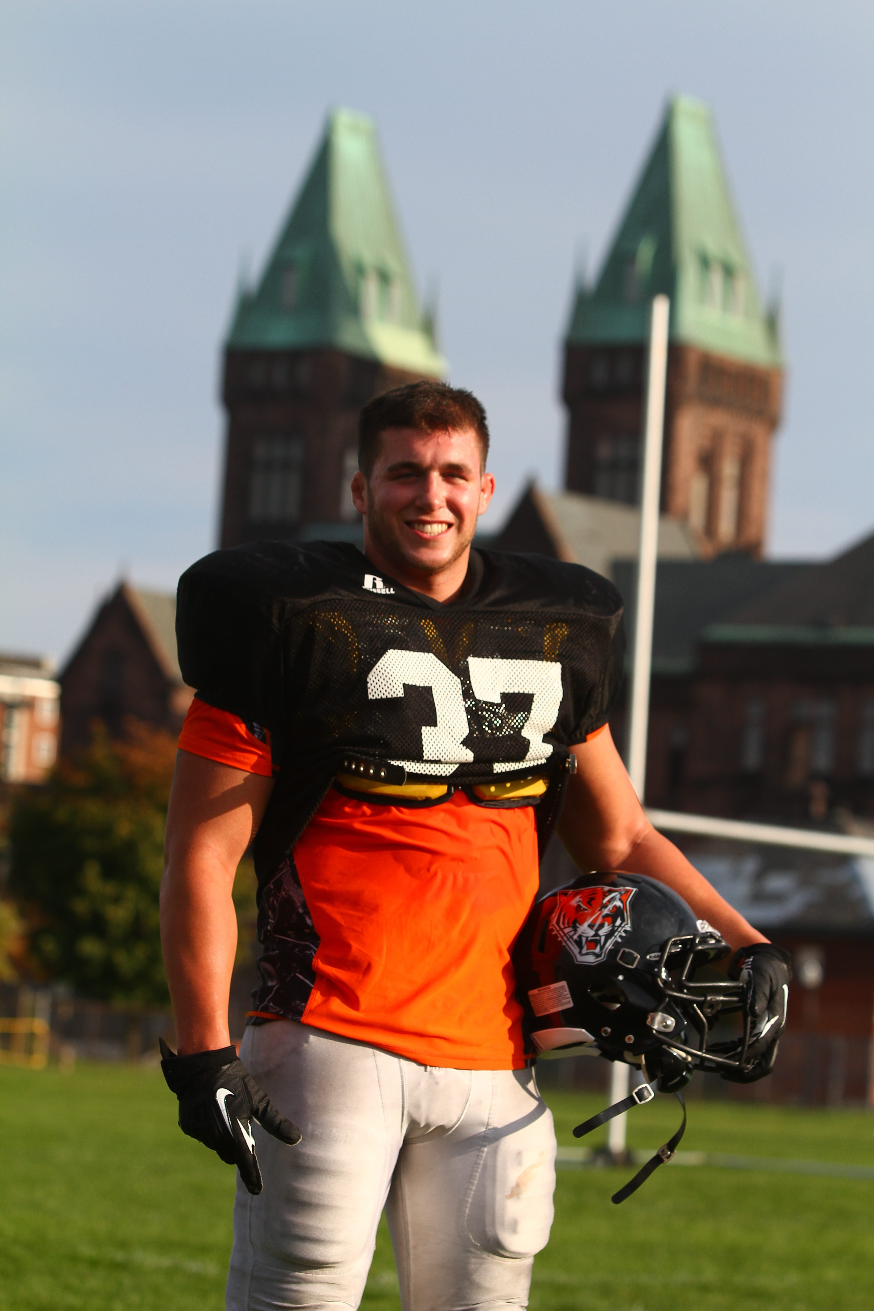 Eddie Weiser is back on the football field after a layoff.